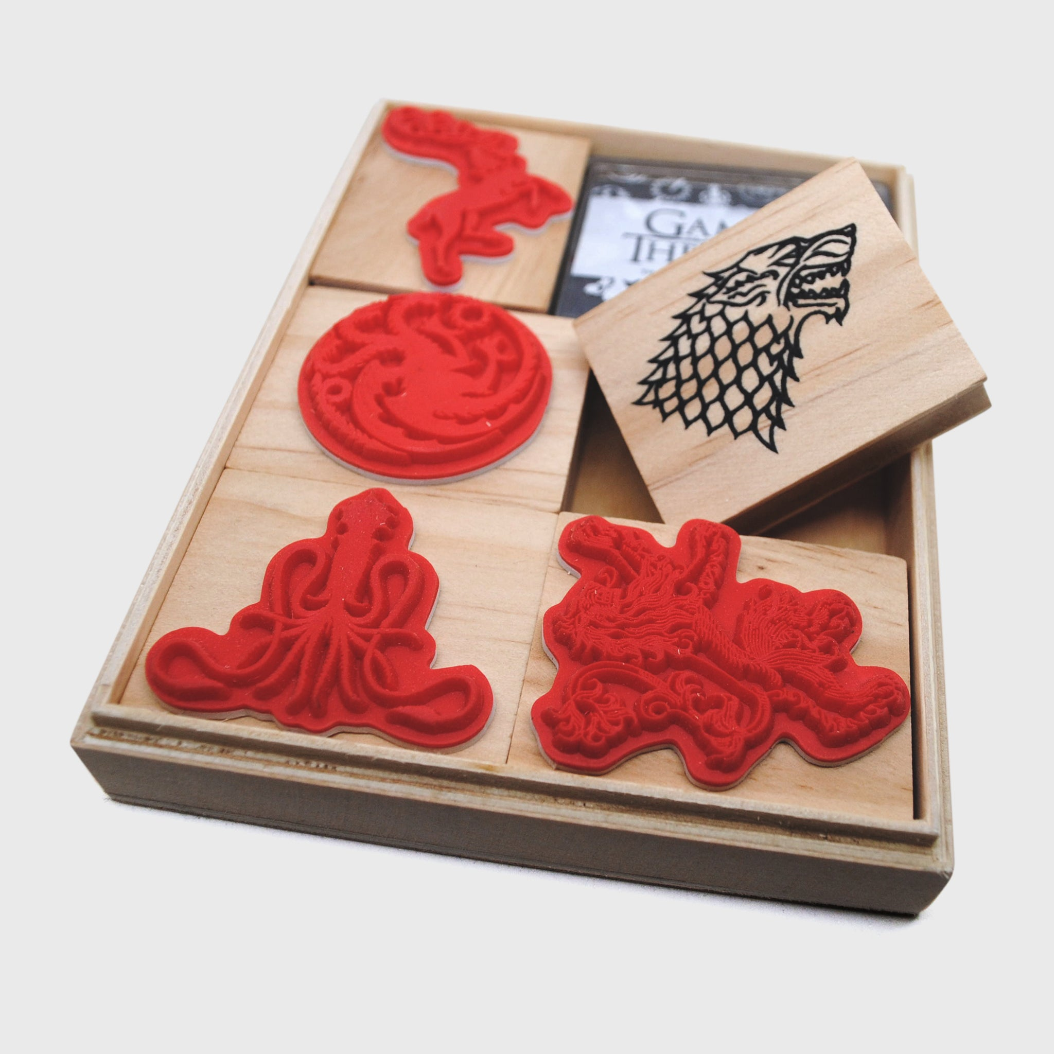 game of thrones got box collectibles exclusives stark sigil tyrell targaryen stamp set kitchenware home goods office home collector collection culturefl
