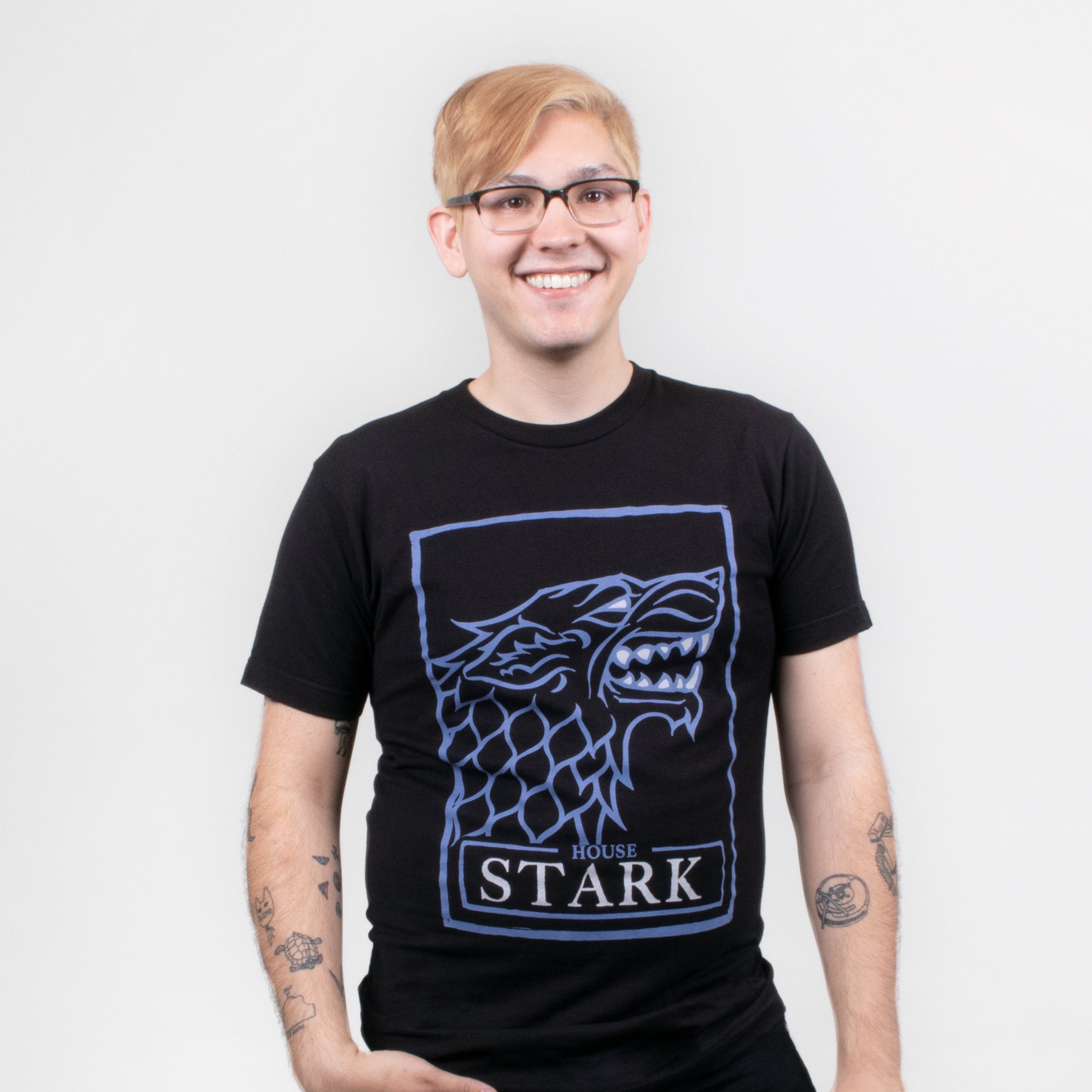 men game of thrones house stark t-shirt graphic tee apparel got short sleeves culturefly