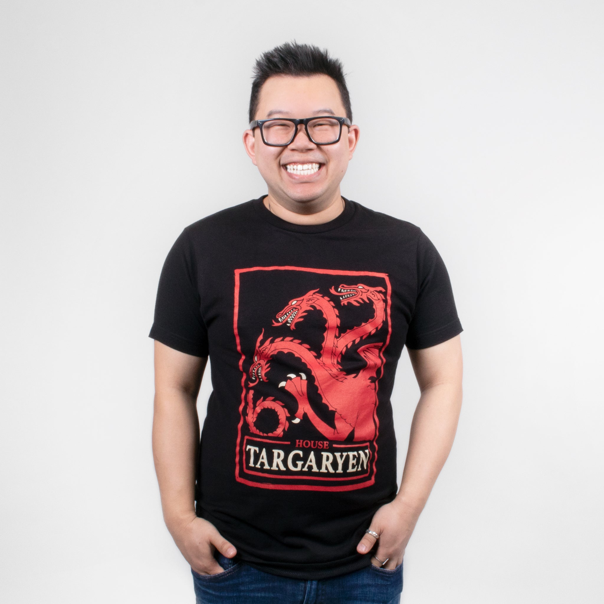 men game of thrones house targaryen t-shirt graphic tee apparel got short sleeves culturefly