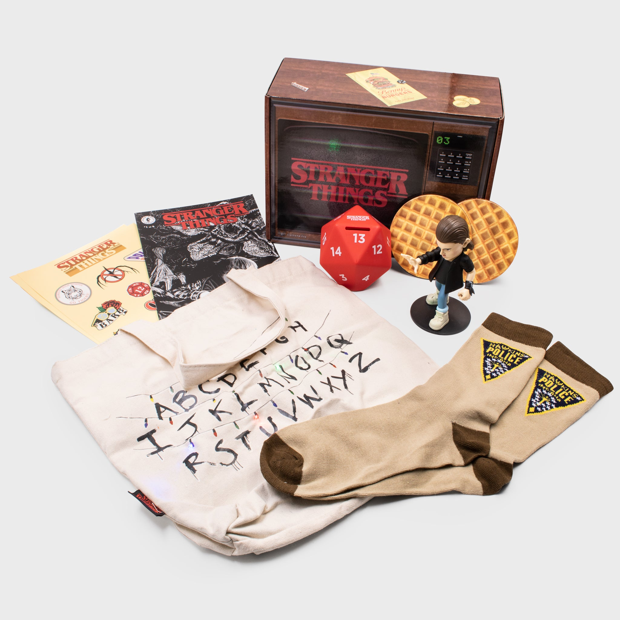 stranger things eleven netflix collector's box collectible exclusive upside down waffles culturefly