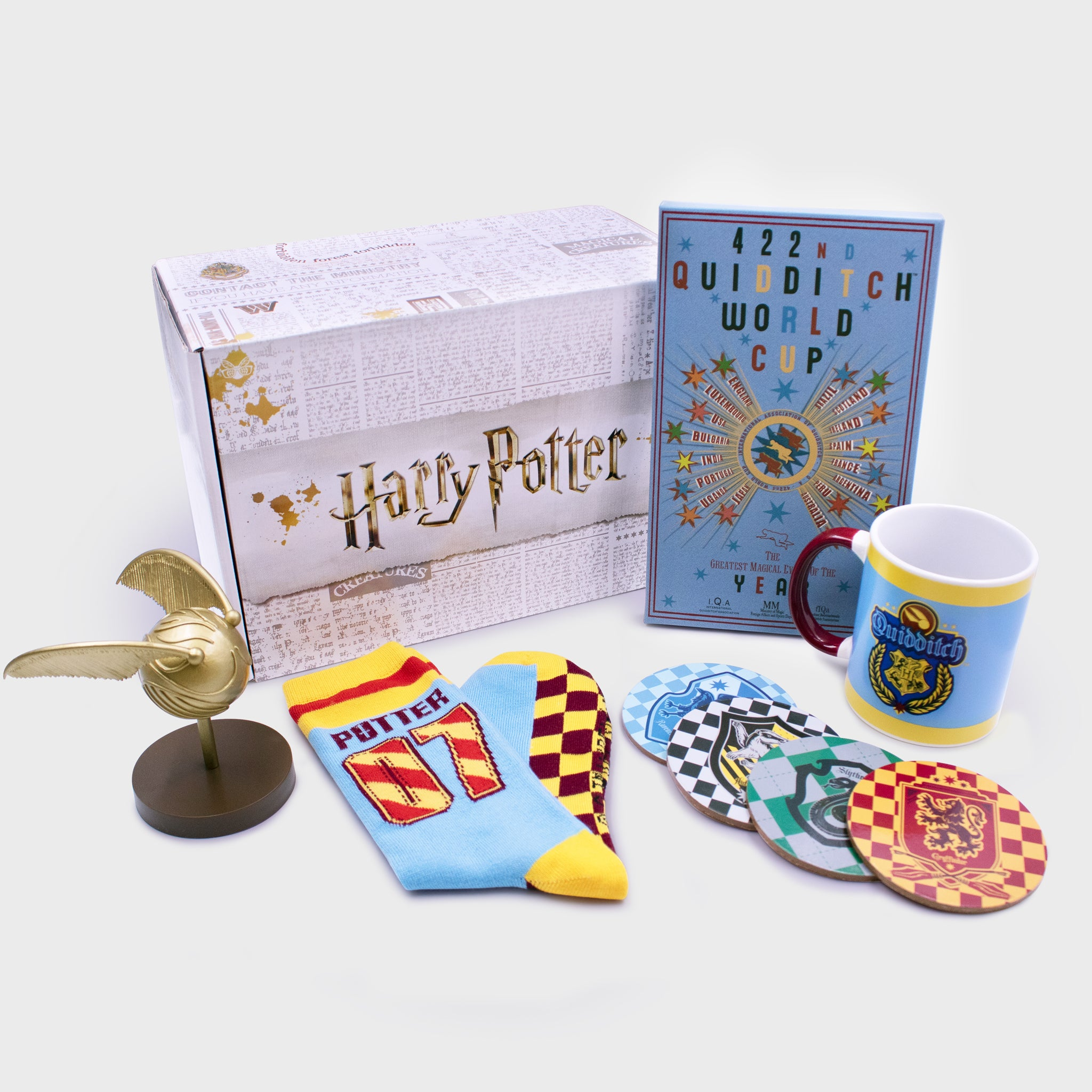 harry potter wizarding world quidditch warner brothers walmart retail box collectibles home good accessories exclusive culturefly