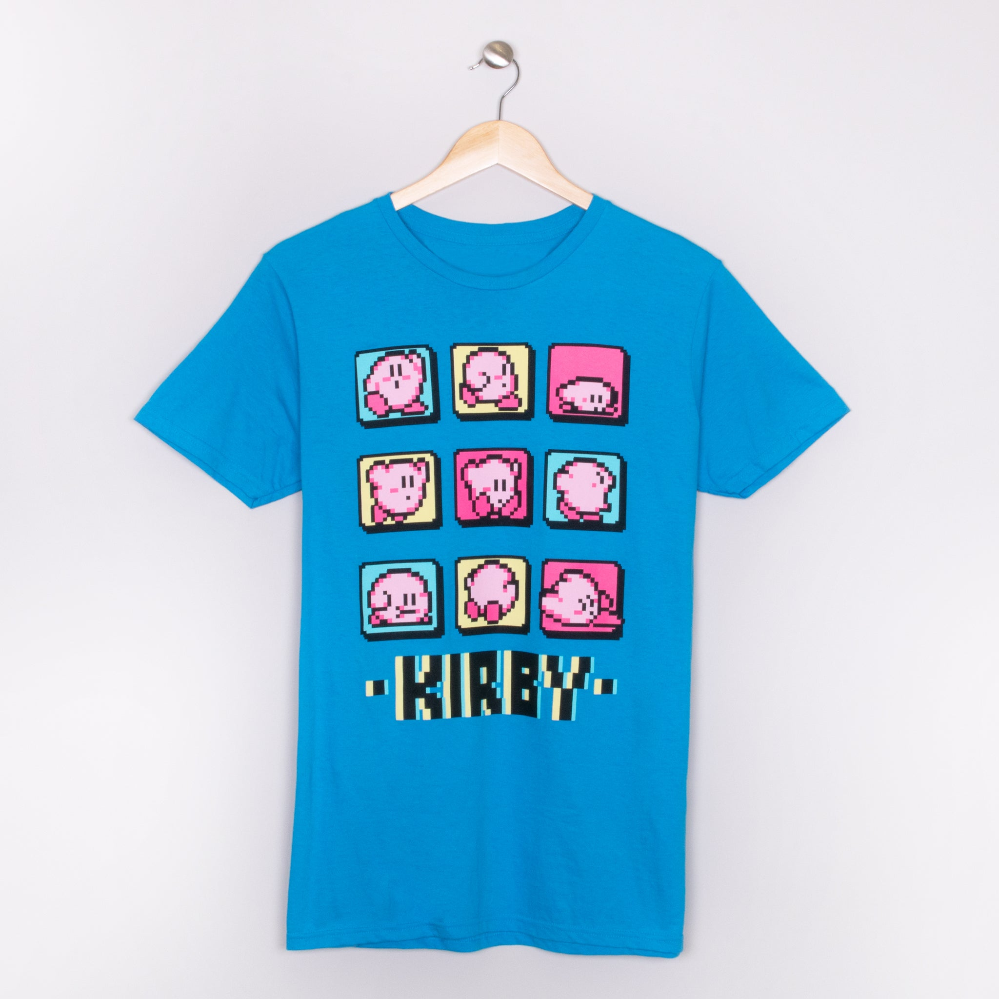 kirby pixel blue nintendo video games gaming t-shirt apparel shirt culturefly