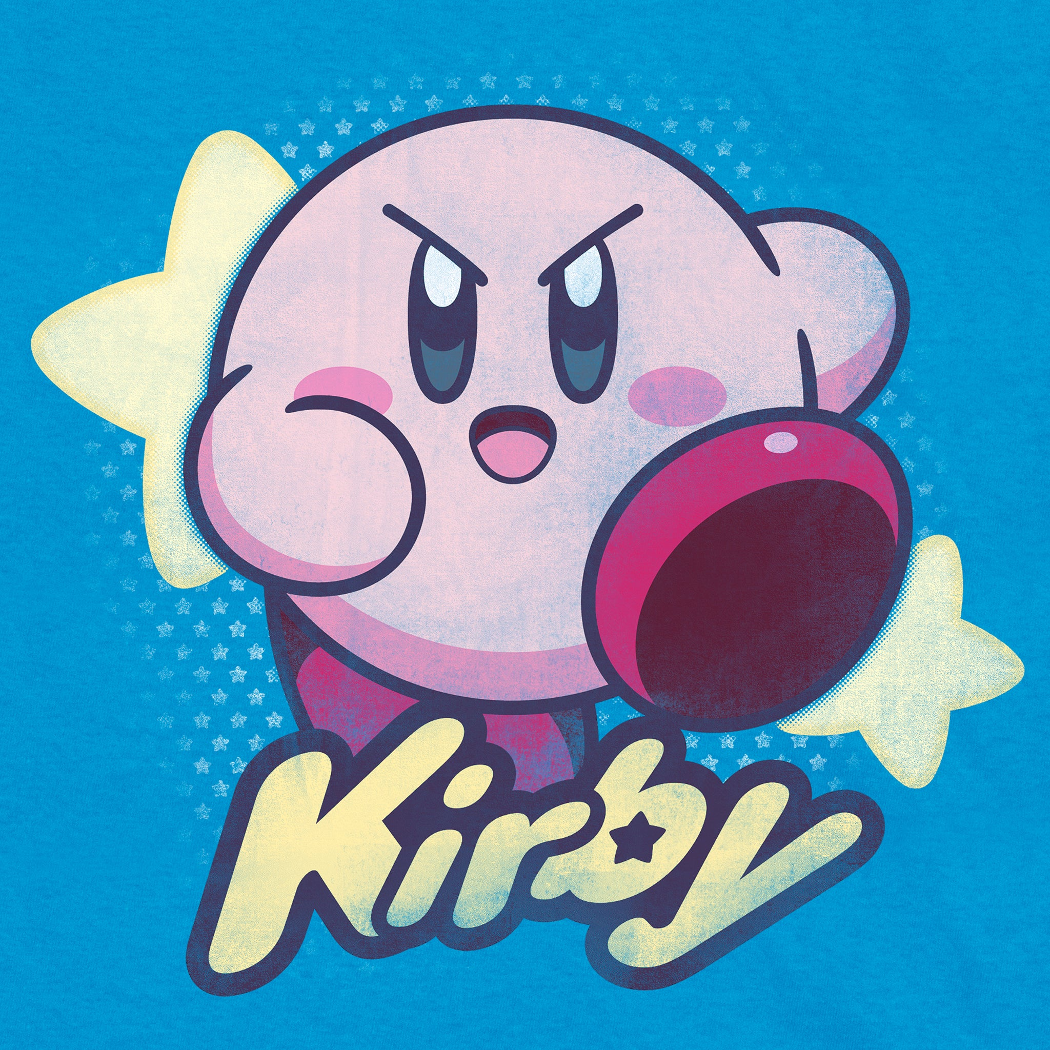 kirby blue nintendo video games gaming t-shirt apparel shirt graphic culturefly