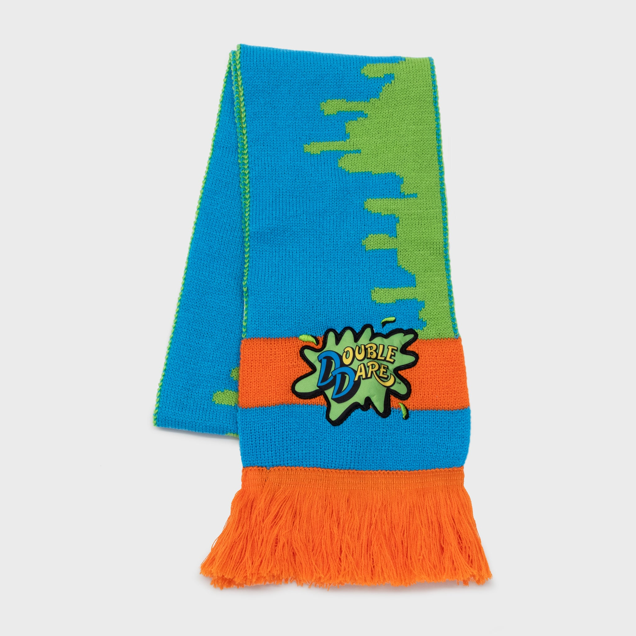 the nick box nickelodeon 90s kids 90s cartoons nostalgia throwback nostalgic classic subscription quarterly exclusive limited edition collectible double dare scarf winter accessory culturefly