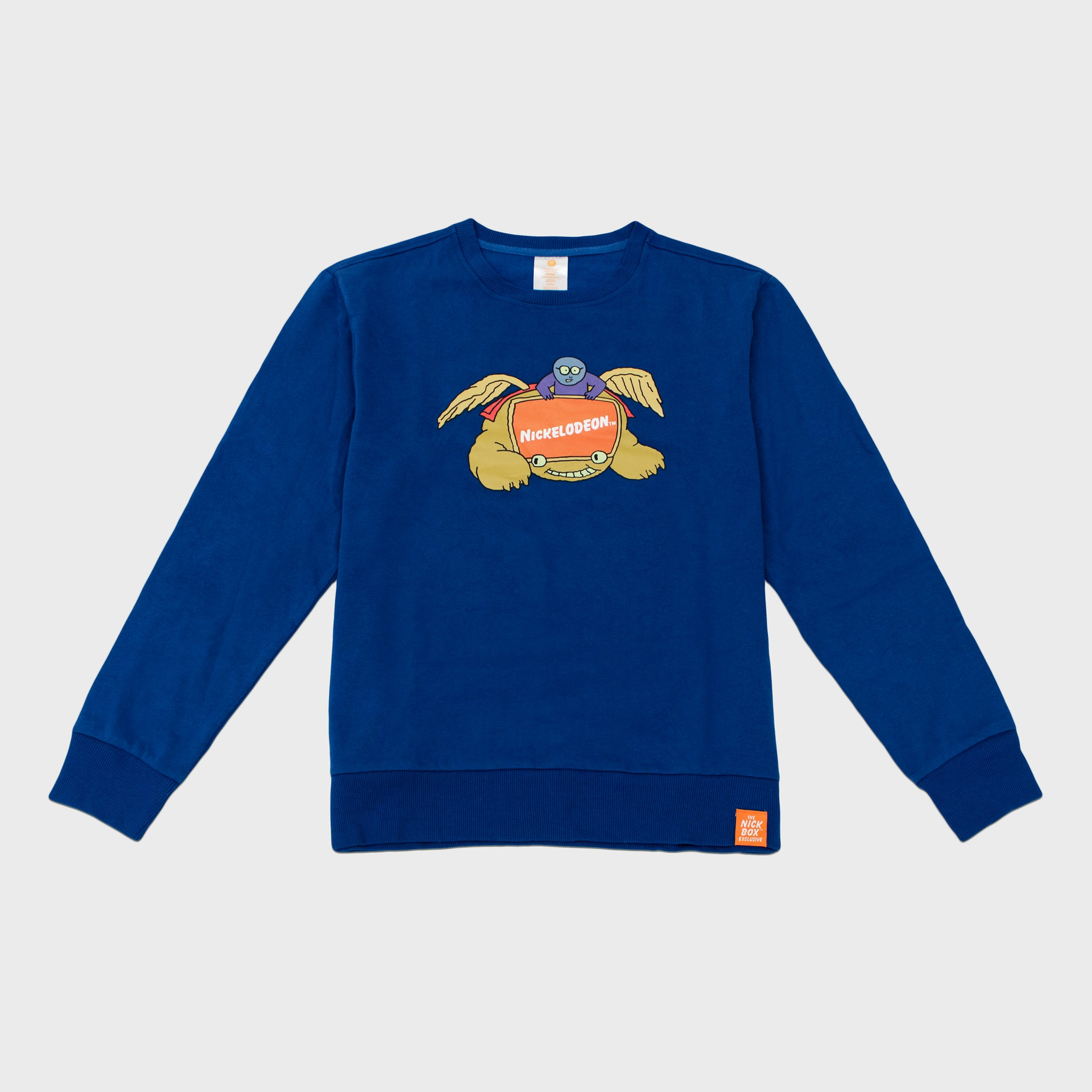 the nick box nickelodeon 90s kids 90s cartoons nostalgia throwback nostalgic classic subscription quarterly exclusive limited edition collectible apparel sweatshirt crewneckculturefly