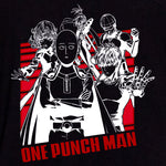 one punch man saitama genos sonic tornado fight crew squad team t-shirt graphic apparel shirt anime culturefly