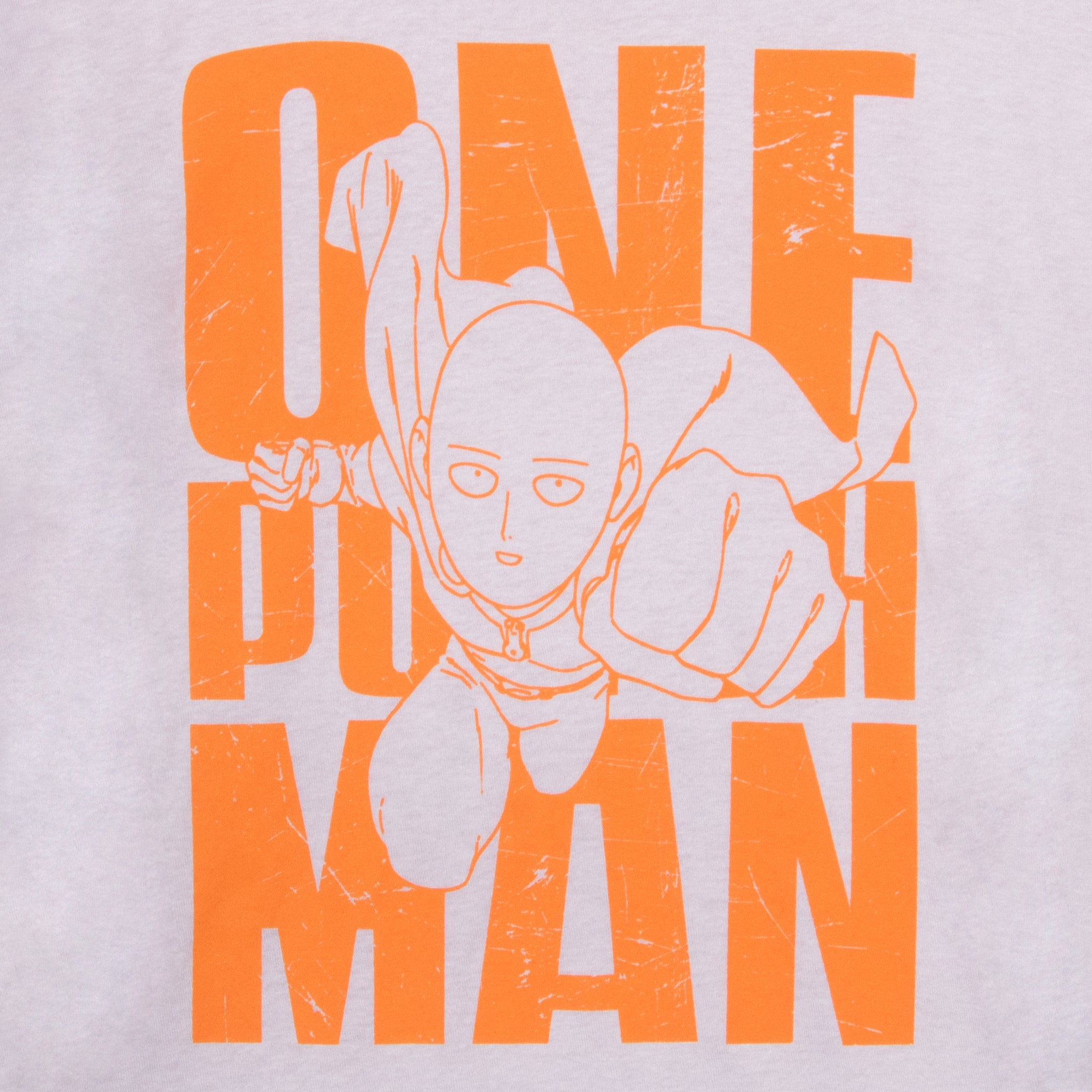 one punch man saitama gray orange t-shirt graphic apparel shirt culturefly