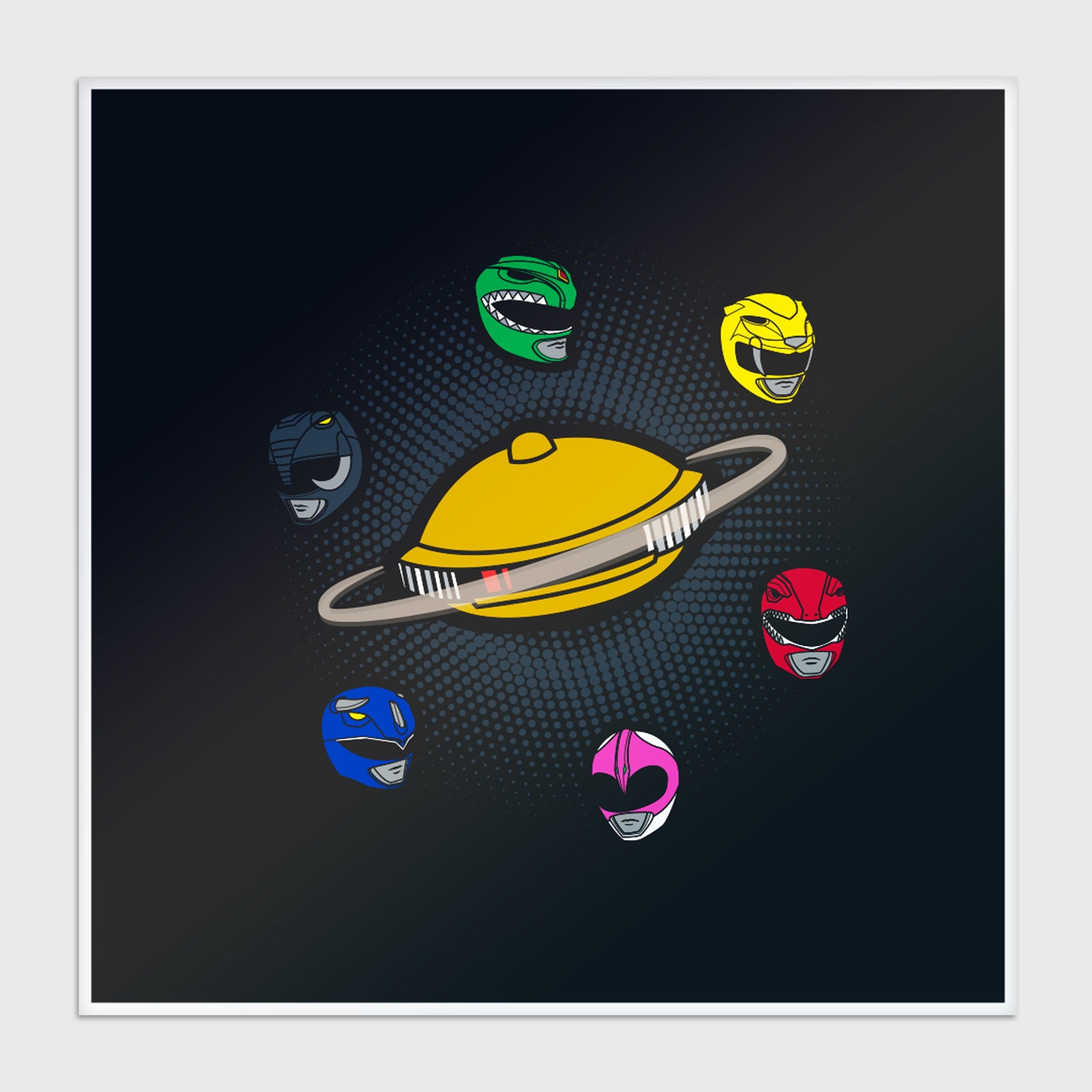 power rangers mighty morphin mmpr 90s kids green ranger black ranger blue ranger red ranger yellow ranger pink ranger exclusive gamestop retail box collectibles culturefly art print poster
