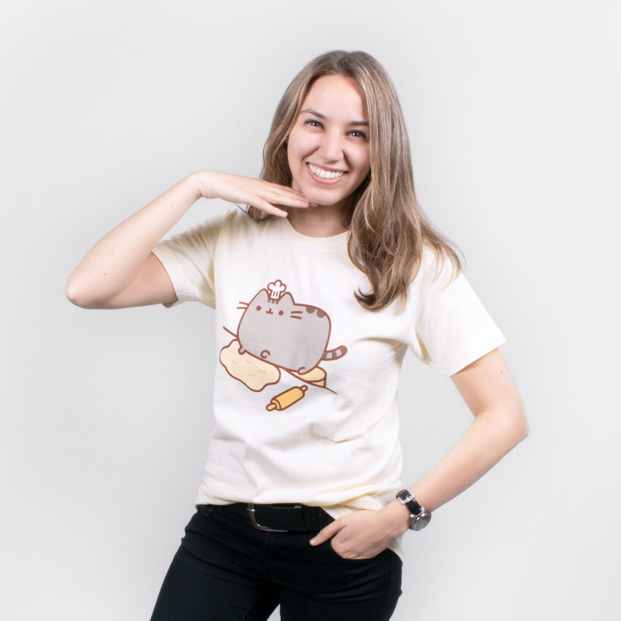 women pusheen baking apparel t-shirt graphic shirt baker cute cat culturefly