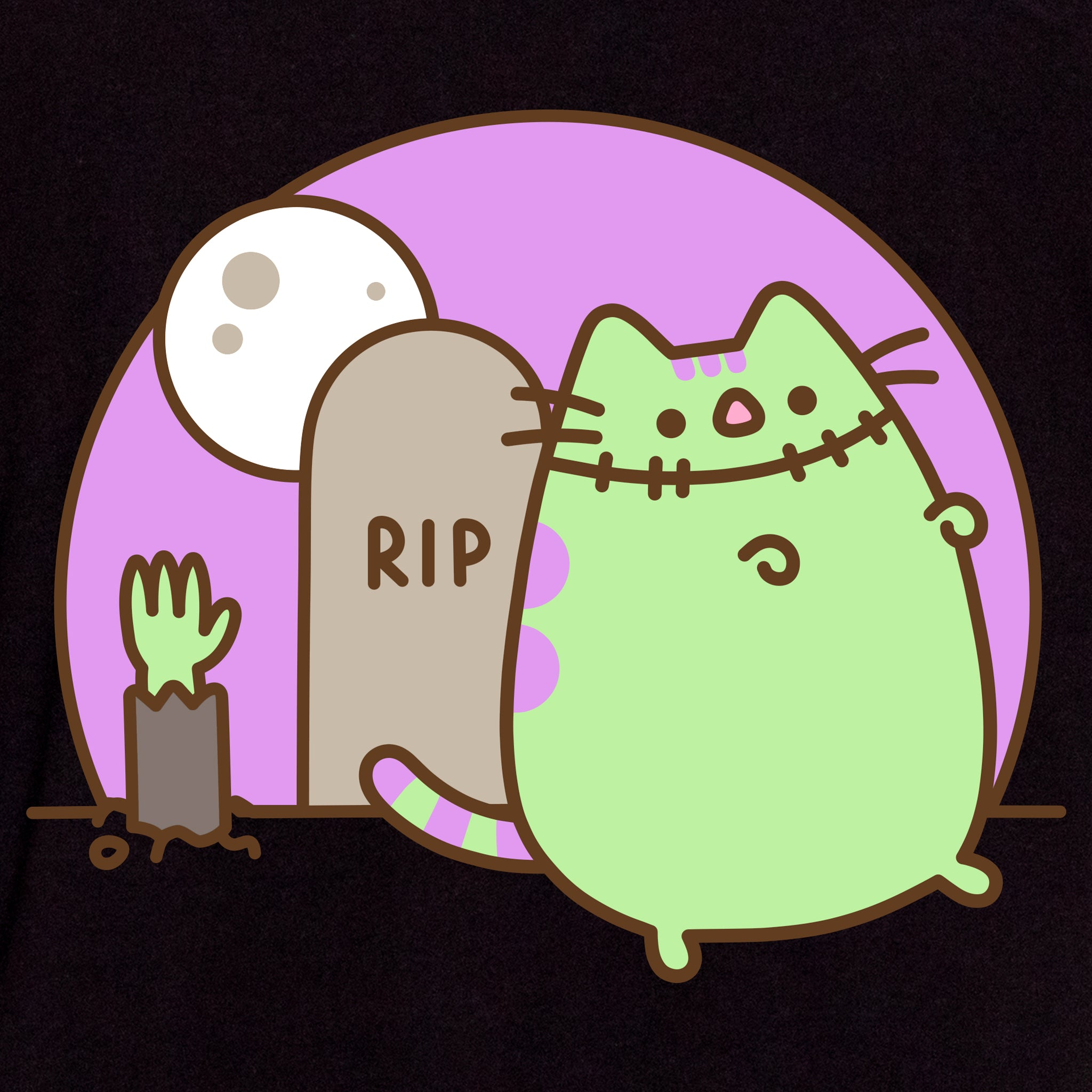 pusheen frankenpusheen zombie monster spooky halloween spoopy apparel t-shirt graphic shirt cute cat culturefly