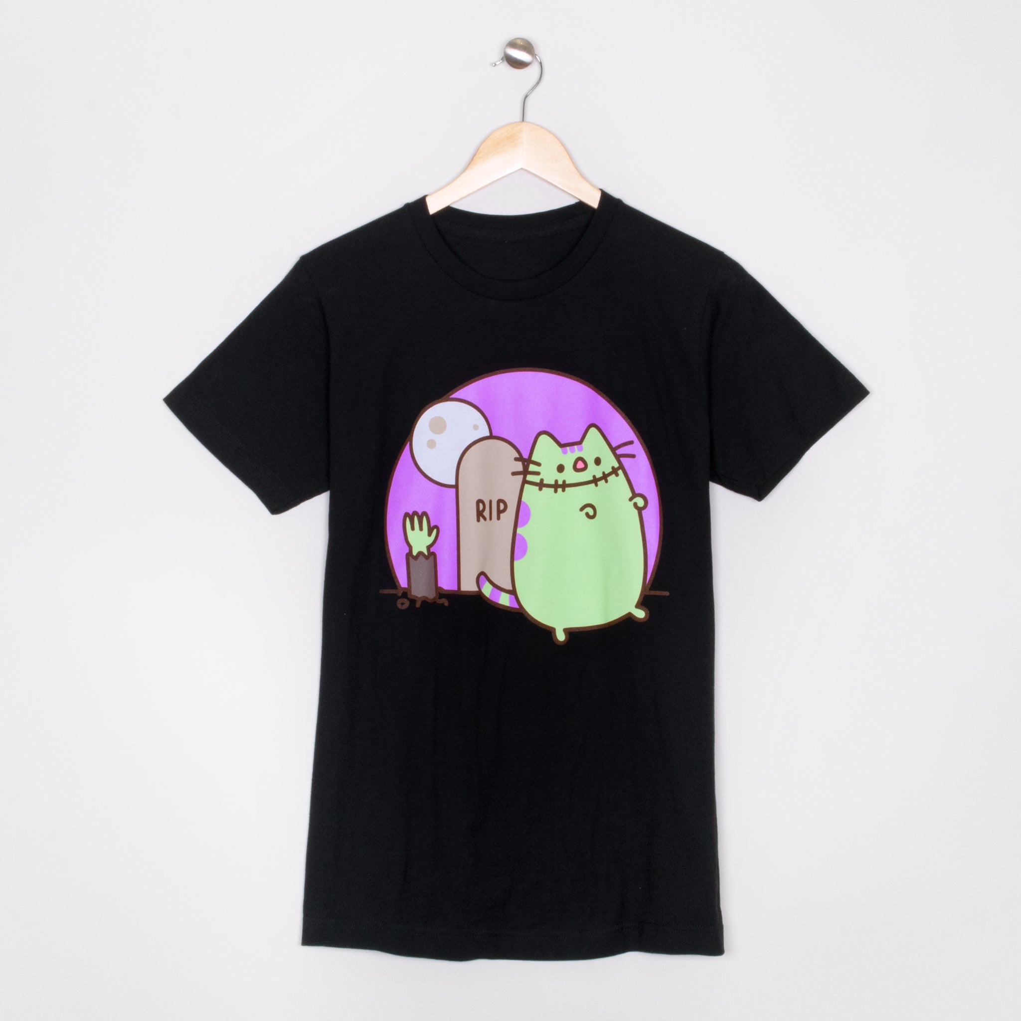 pusheen frankenpusheen zombie monster spooky halloween spoopy apparel t-shirt shirt cute cat culturefly