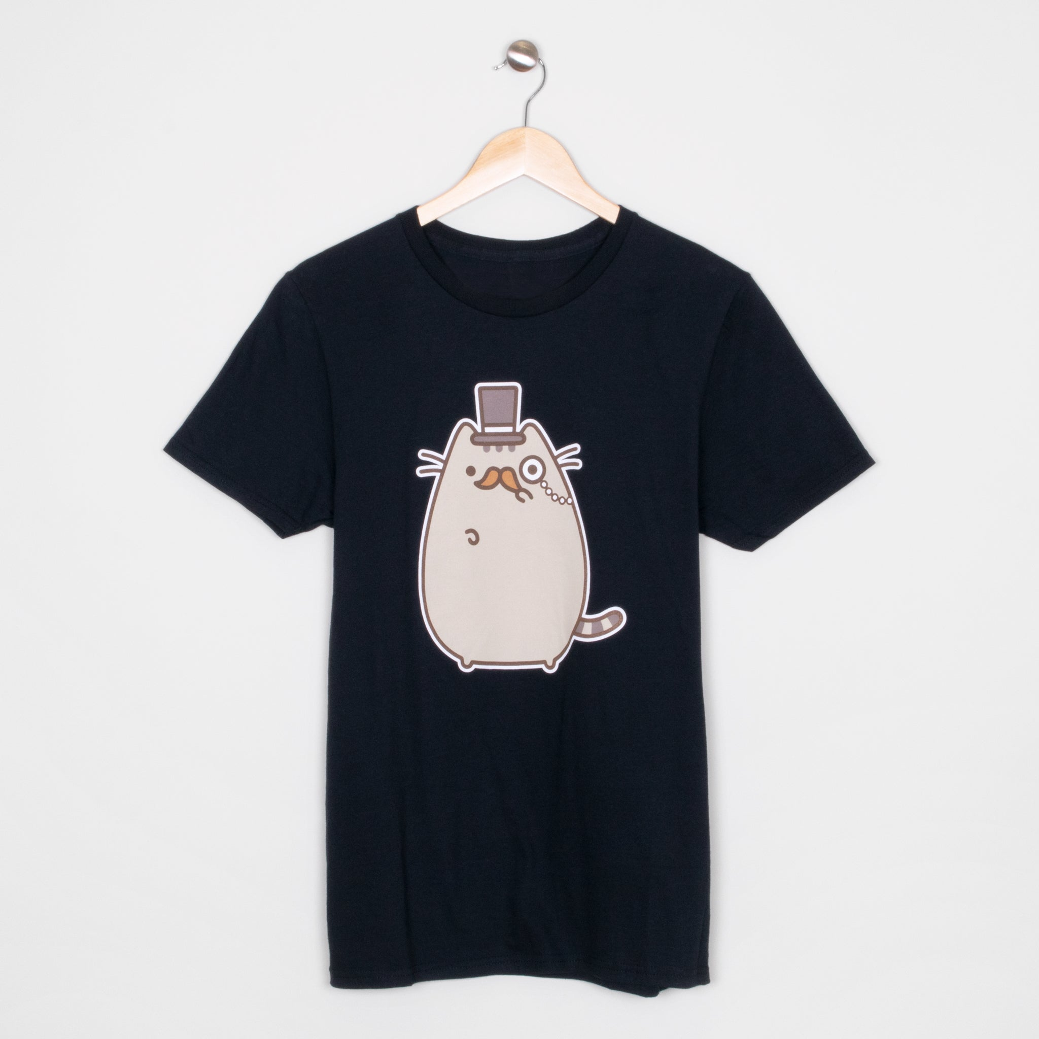 pusheen fancy refined mustache monocle apparel t-shirt shirt cute cat culturefly