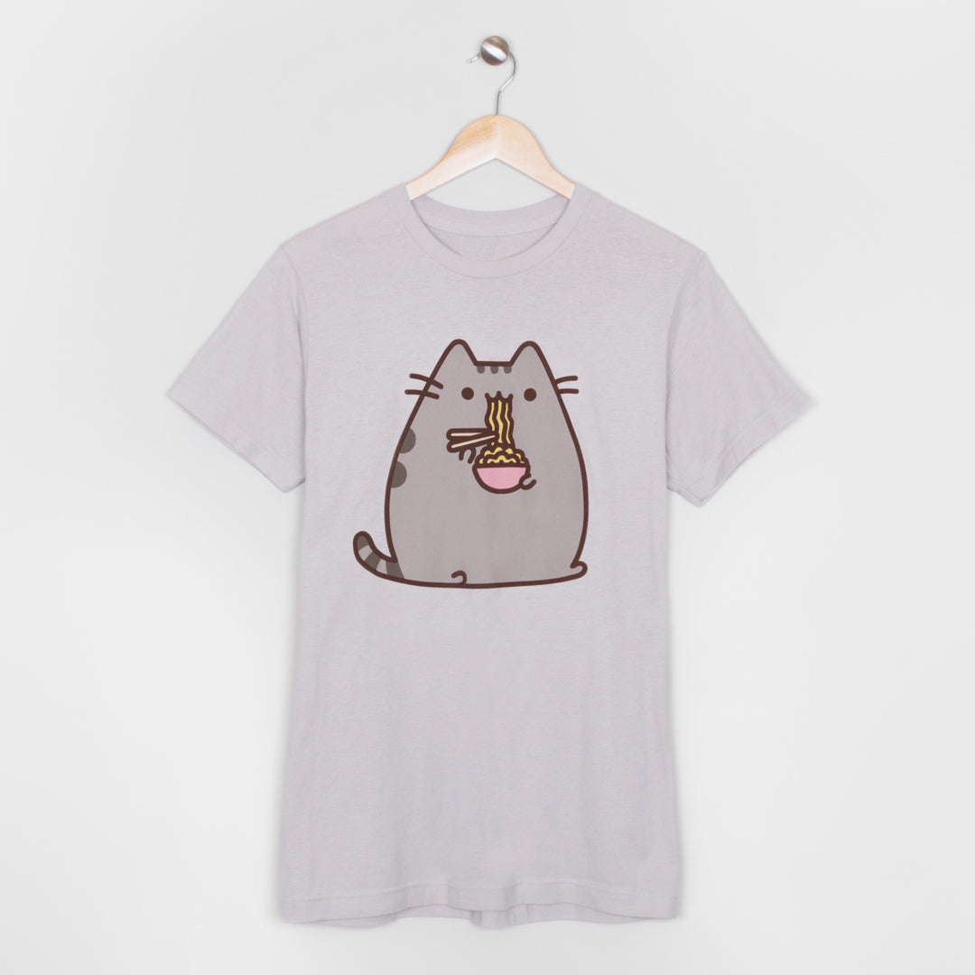pusheen ramen noodles eating food cat graphic short sleeve apparel t-shirt shirt culturefly