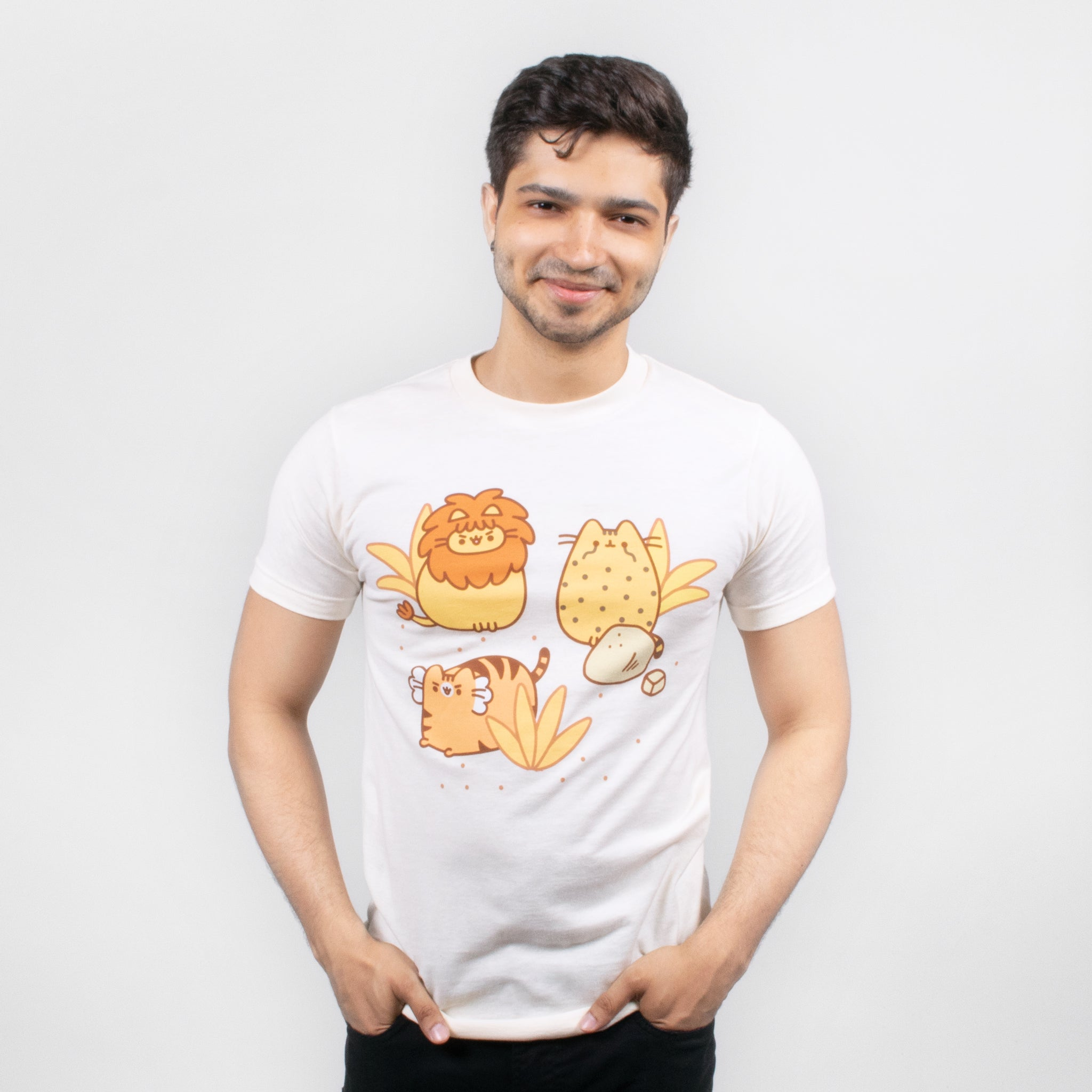 men pusheen lion tiger leopard pusheenimals apparel t-shirt graphic shirt cute cat culturefly