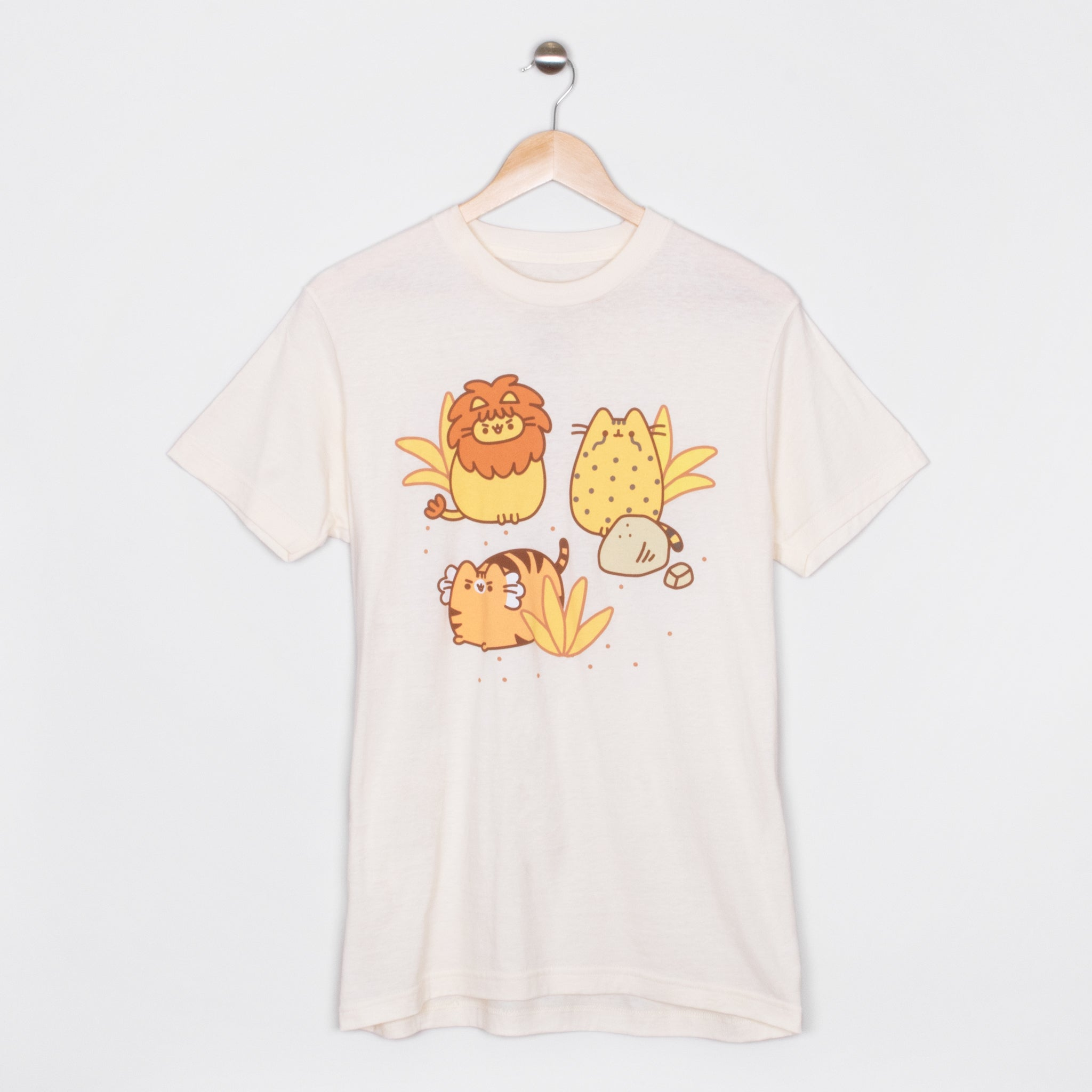 pusheen lion tiger leopard pusheenimals apparel t-shirt shirt cute cat culturefly