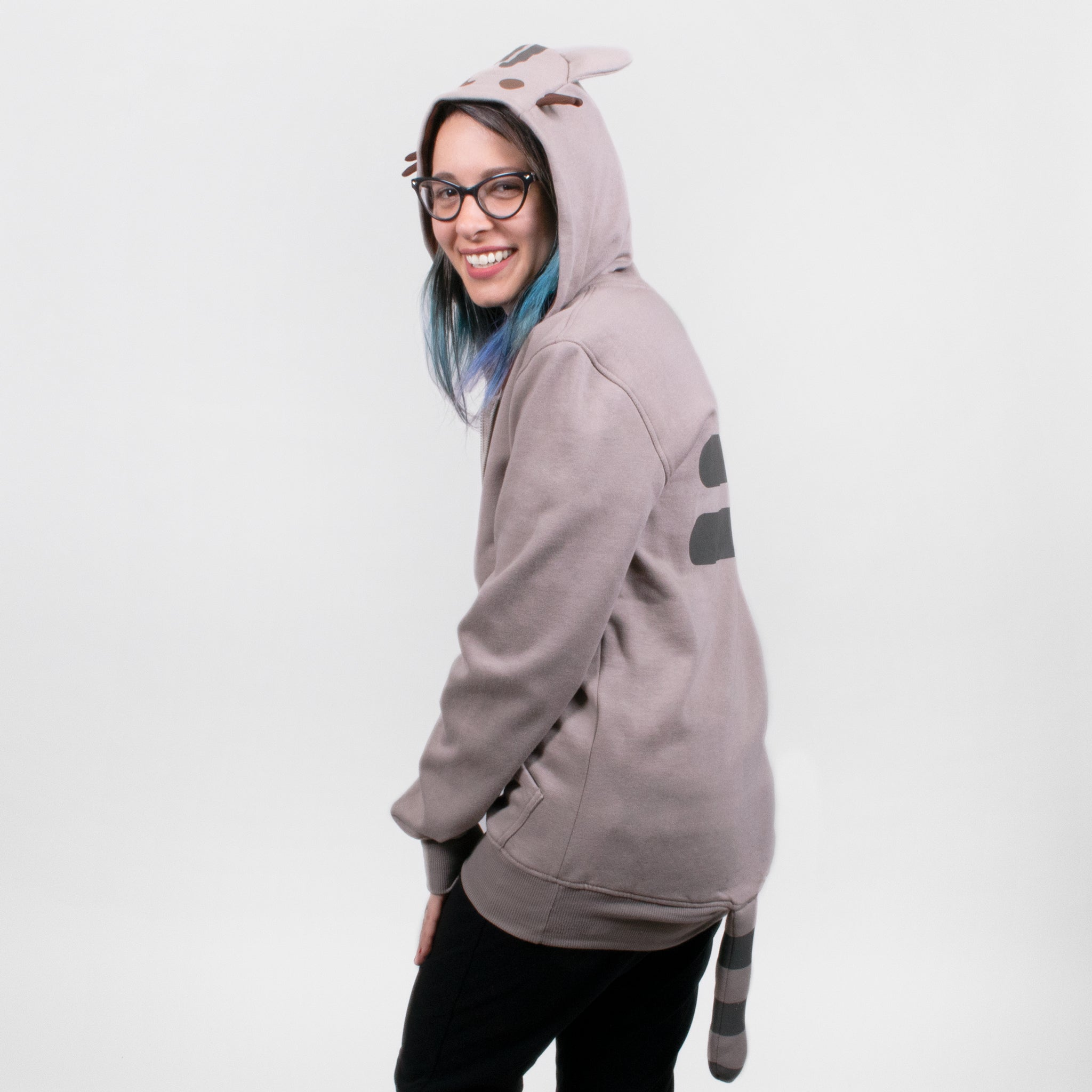 pusheen hood hooded tail cosplay costume sweatshirt hoodie zipup apparel cute cat culturefly