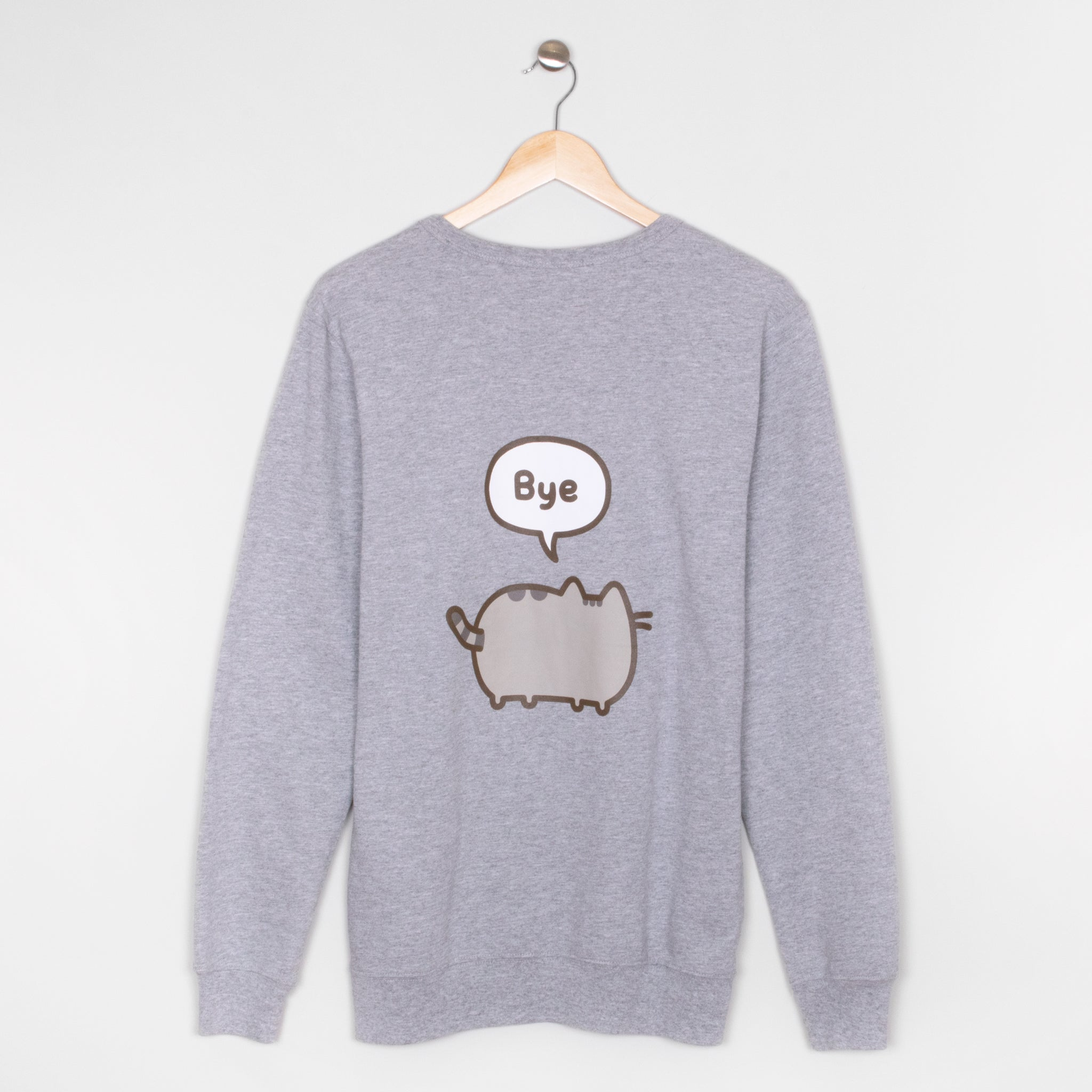 pusheen hi bye back apparel sweater longsleeve shirt cute cat culturefly