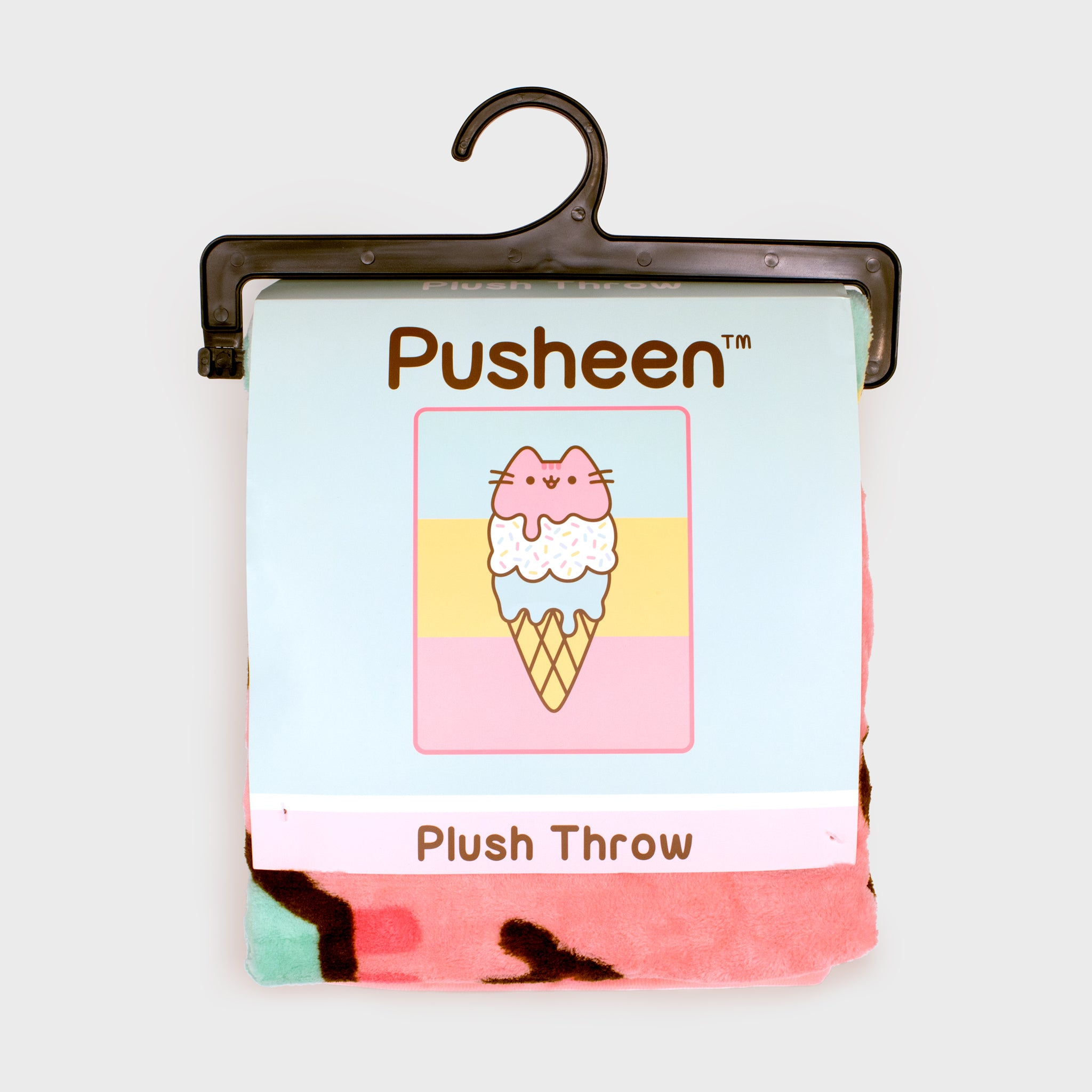 pusheen throw blanket accessory collectible home good ice cream culturefly