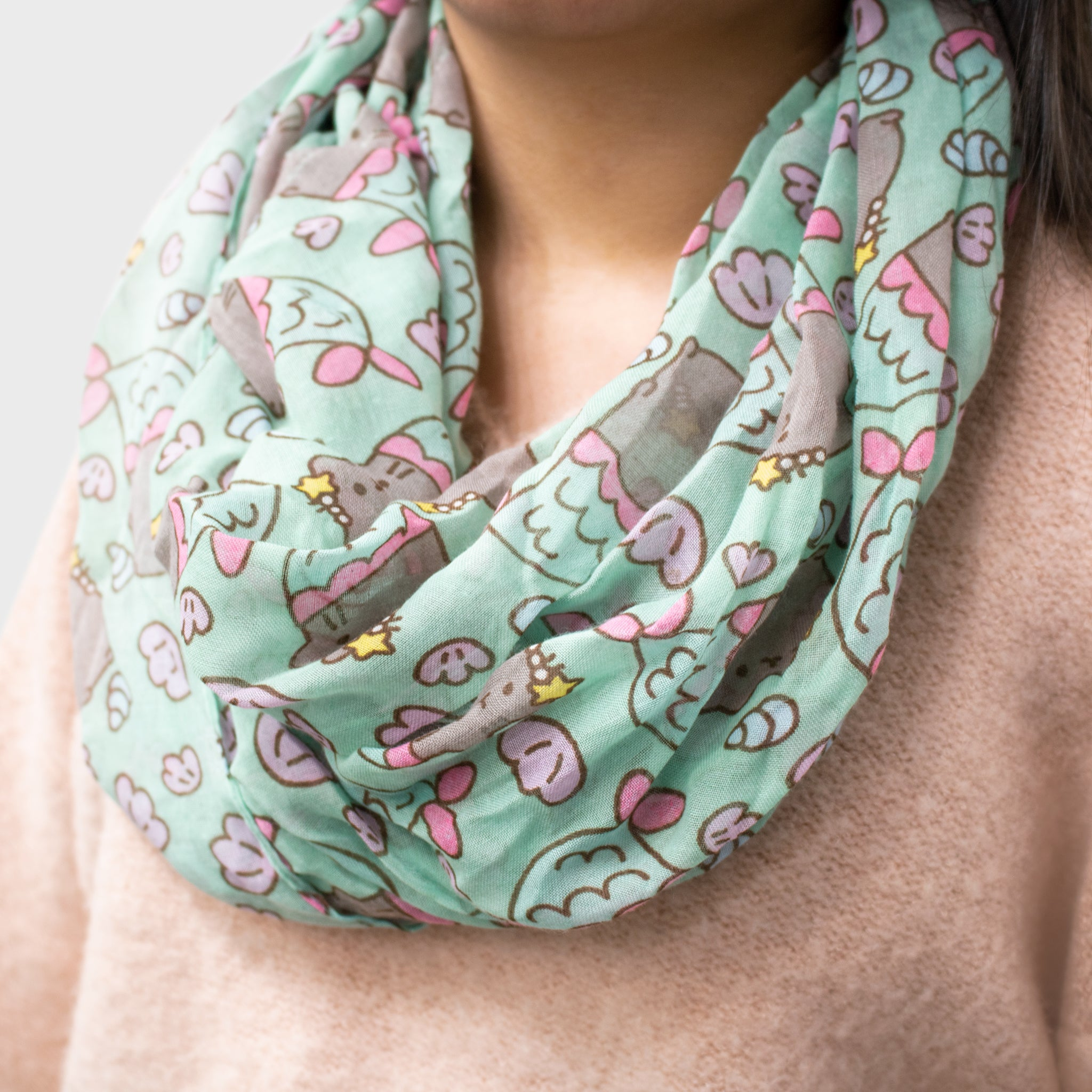 pusheen infinity scarf accessory cat cute culturefly