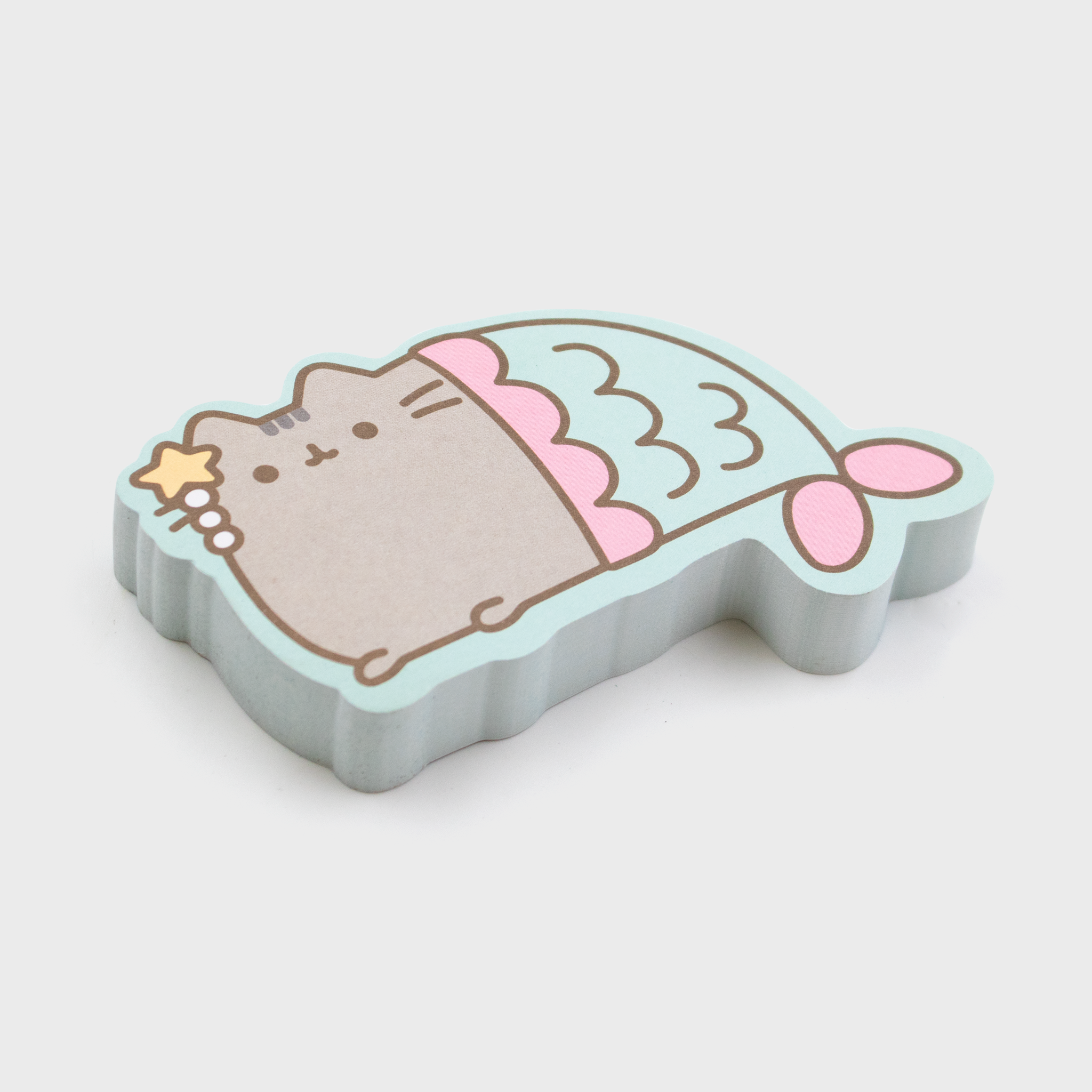 pusheen mermaid sticky notes cute adorable cat stationary desk home office work culturefly