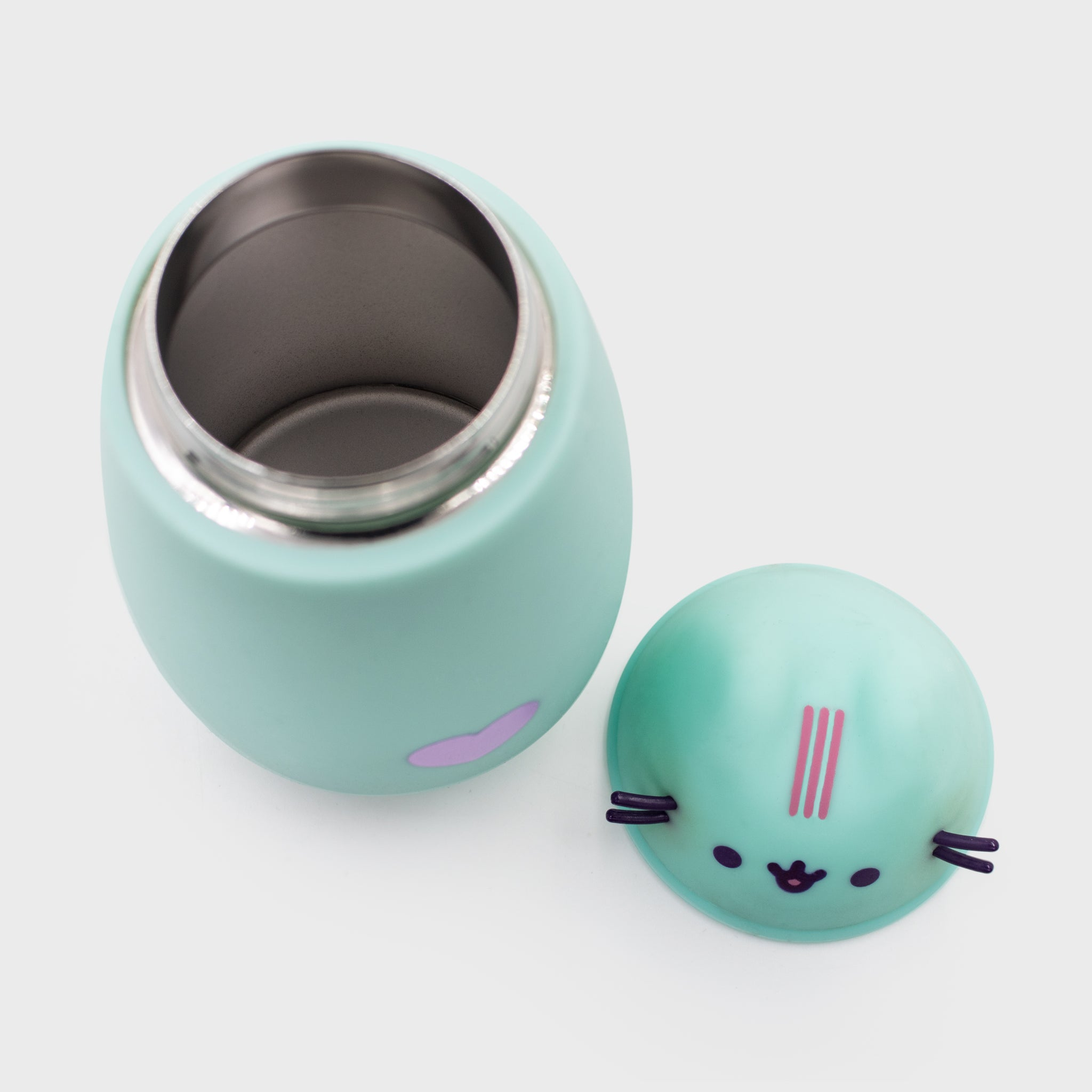 pusheen mint thermos stainless steel lunch hot food drinks cold kitchenware cute cat culturefly