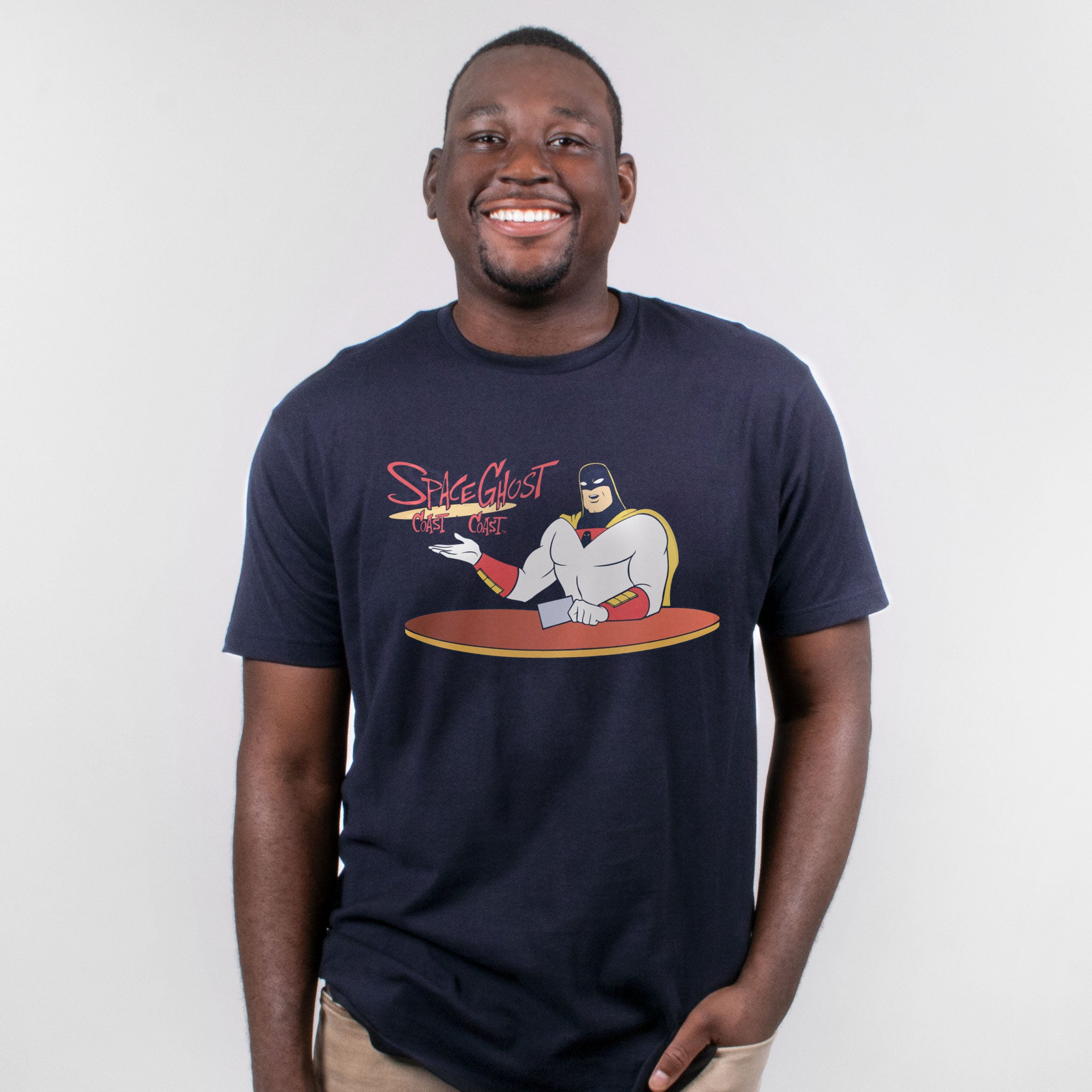 space ghost cartoon network adult swim t-shirt graphic shirt men's apparel culturefly