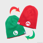 super mario nintendo mario luigi collector's box collectible exclusive accessory reversible beanie hat headwear culturefly