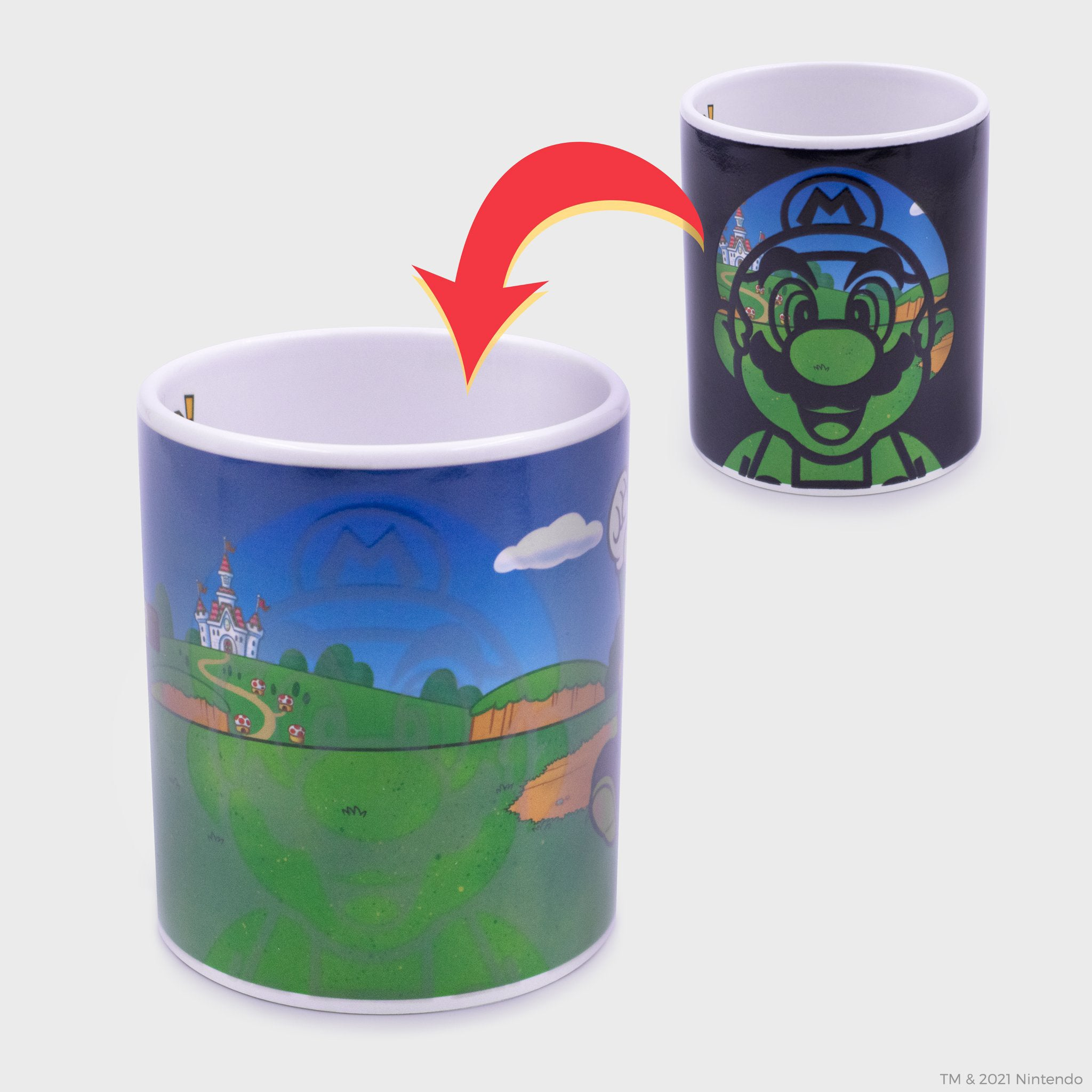 super mario nintendo mario luigi collector's box collectible exclusive mug heat changing drinkware kitchenware culturefly