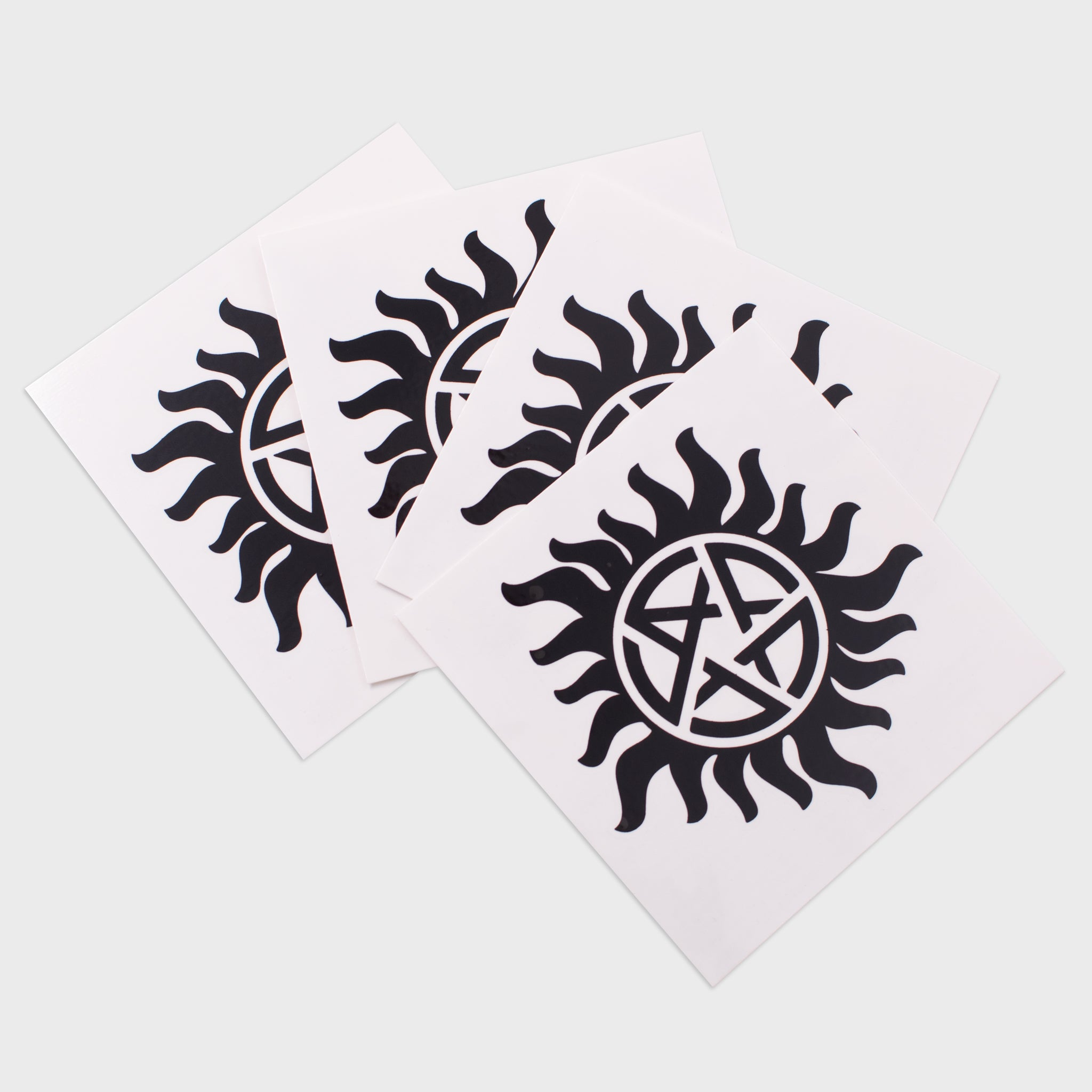 supernatural box dean winchester sam winchester castiel collectible exclusive fans spn spnfamily temporary tattoos removeable