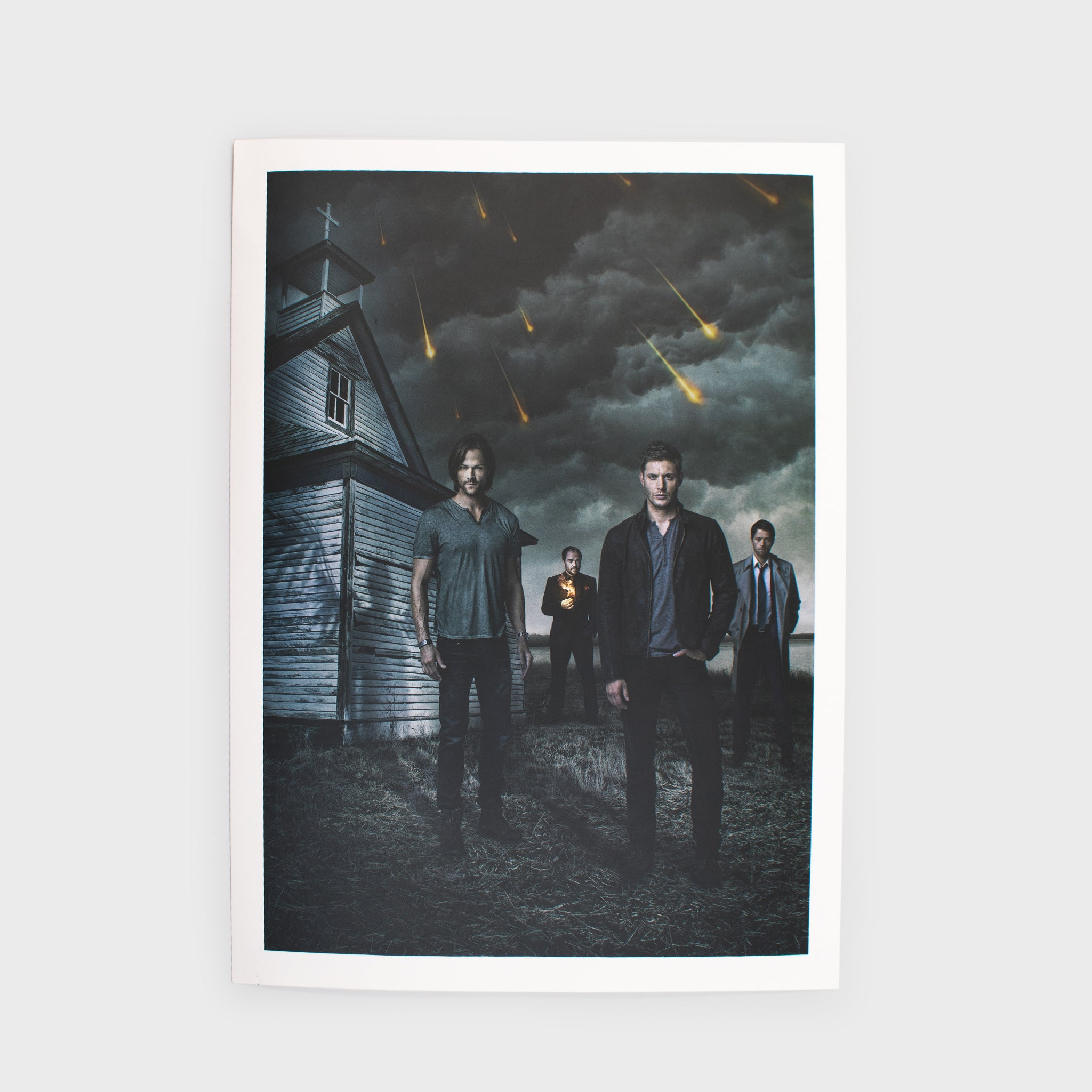 supernatural box dean winchester sam winchester castiel collectible exclusive fans spn spnfamily art print graphic