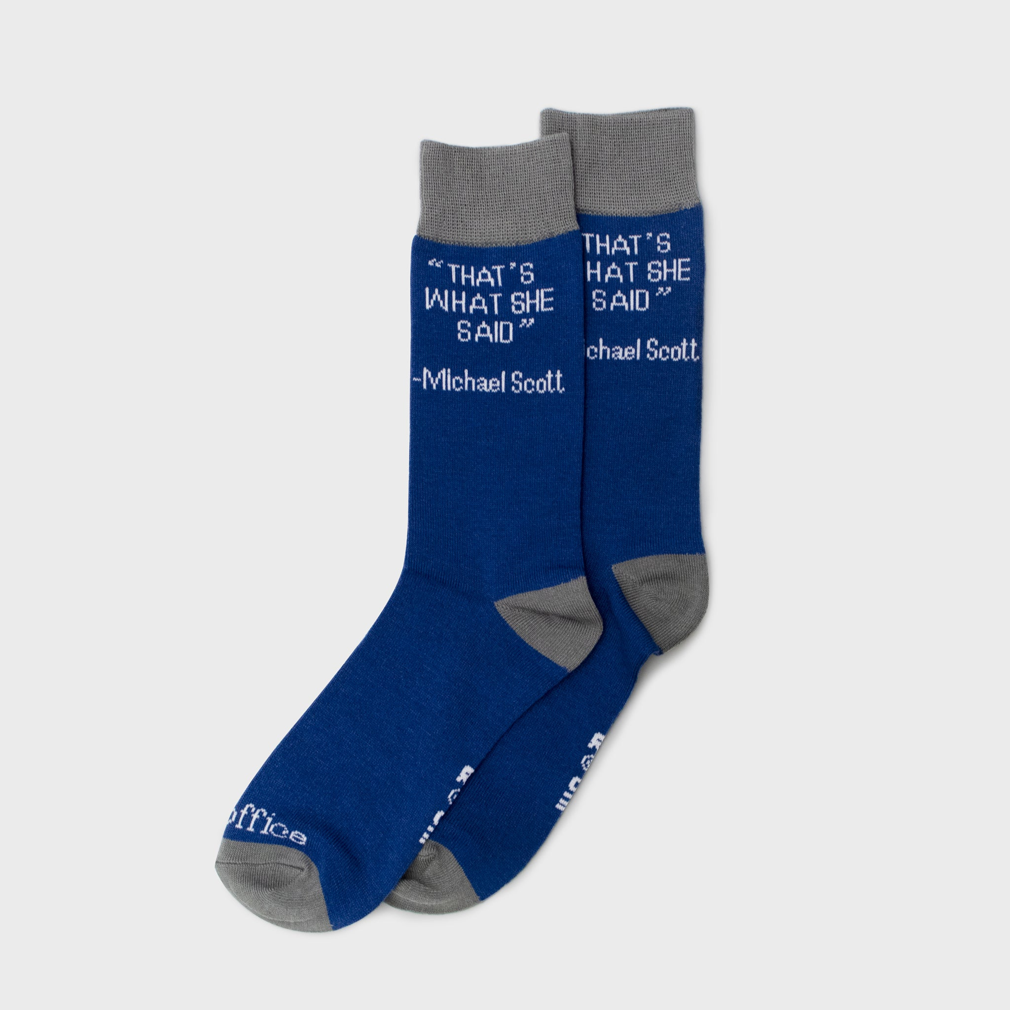 socks crew socks accessories apparel the office that's what she said culturefly