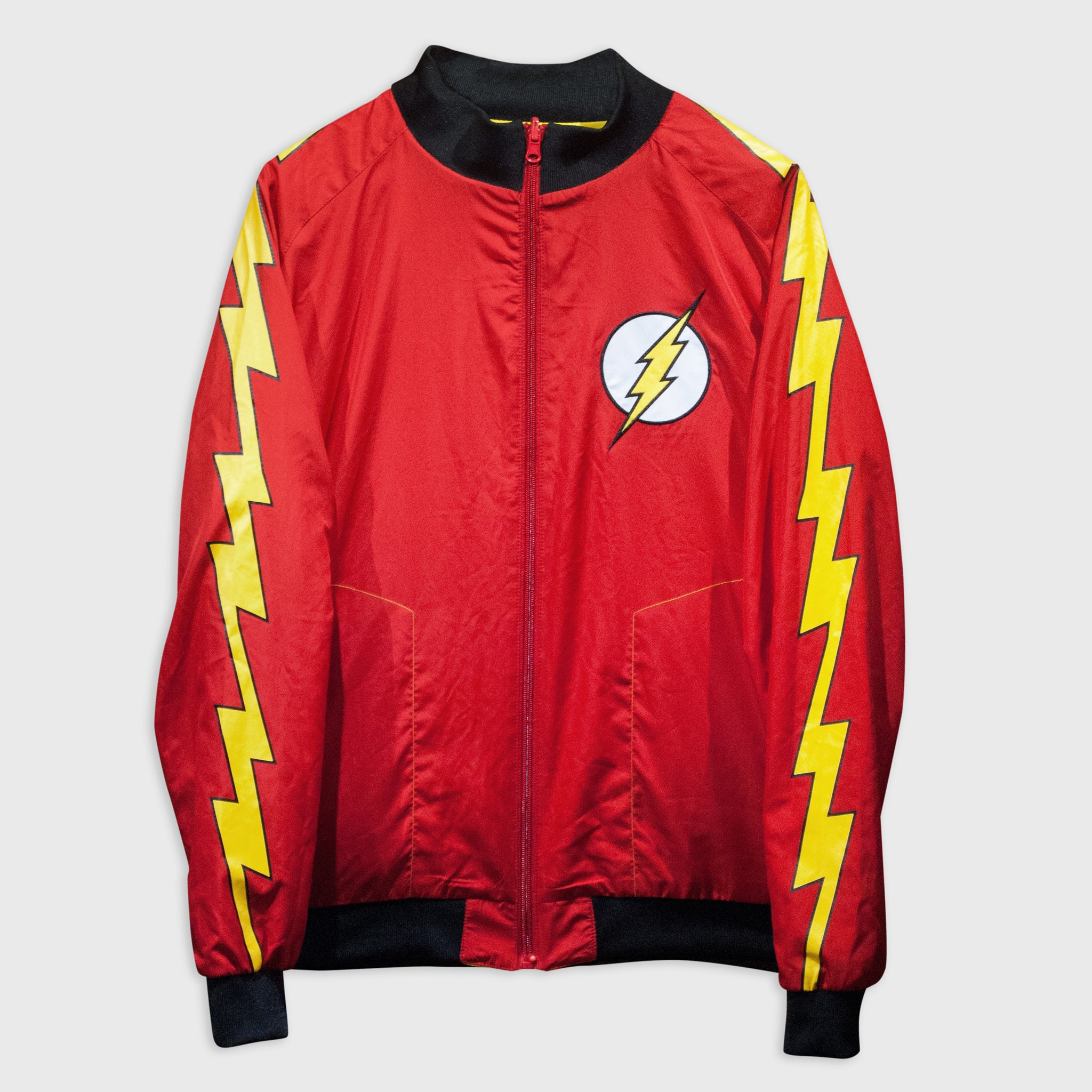 world's finest the collection collectible dc comics justice league apparel jacket track jacket reversable the flash