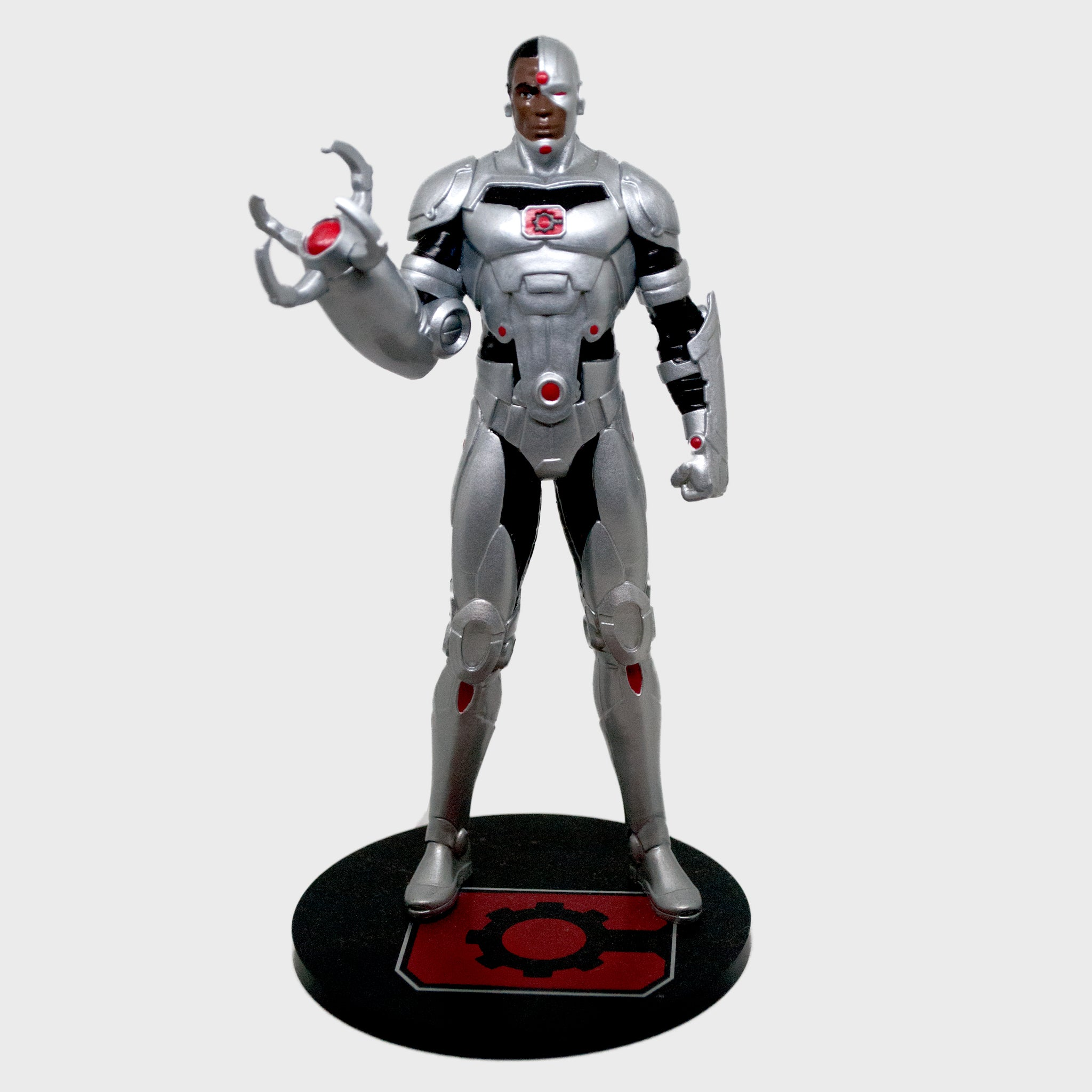 world's finest the collection collectible dc comics justice league cyborg vinyl figure