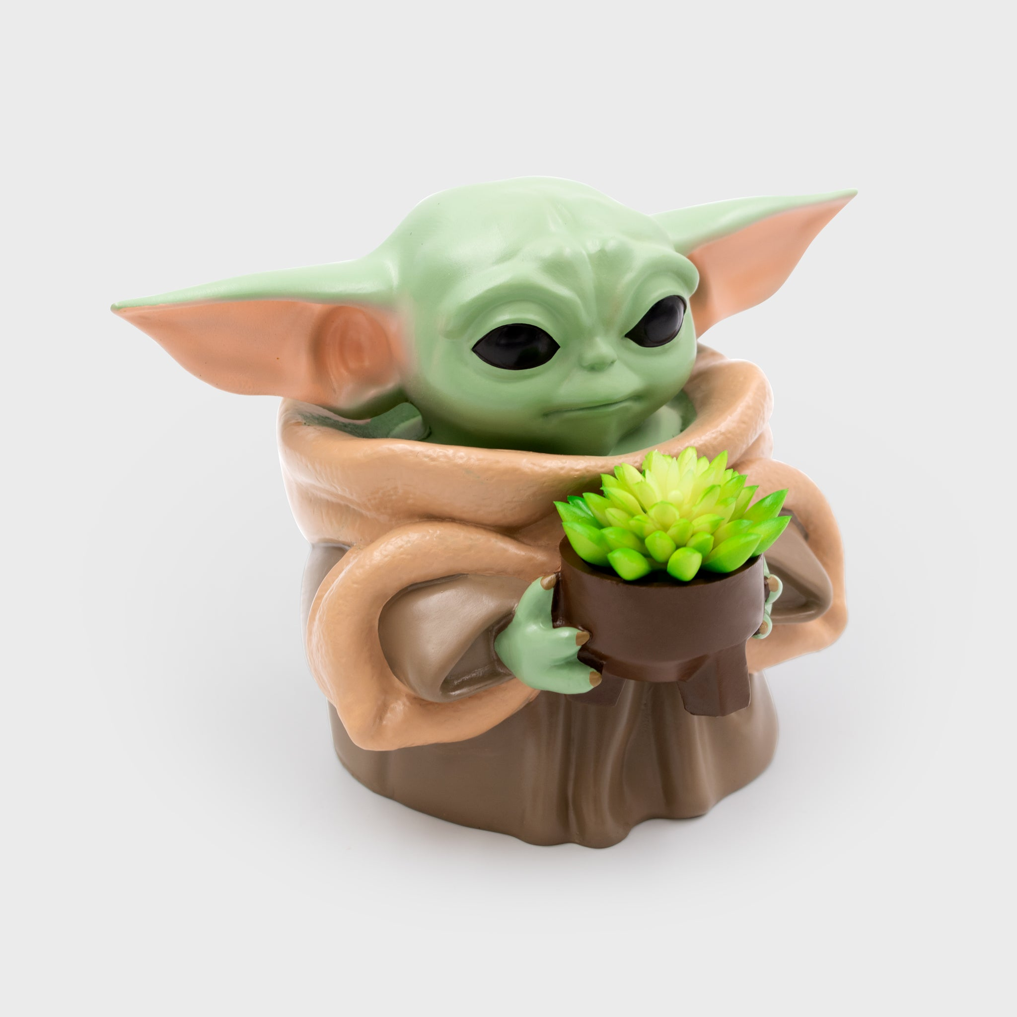 the mandalorian star wars baby yoda the child collector's box planter home decor collectibles culturefly