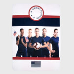 uswnt us usa united states women's national team soccer champion collectible exclusive box throw blanket culturefly