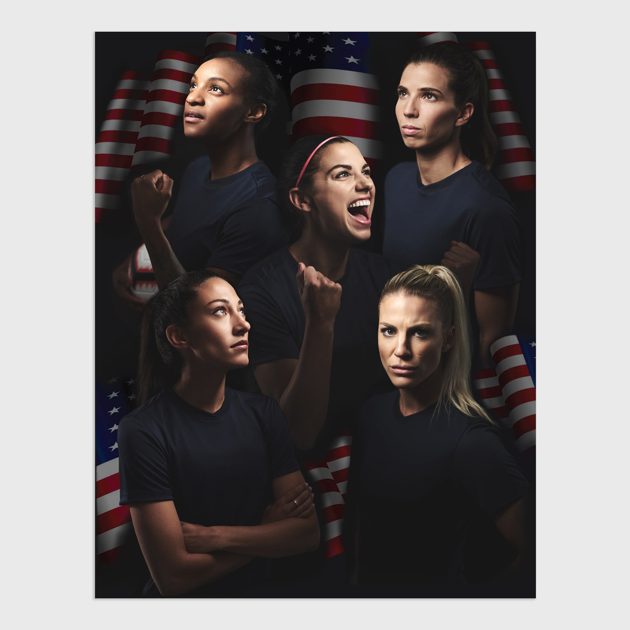 uswnt us usa united states women's national team soccer champion collectible exclusive box graphic print art culturefly