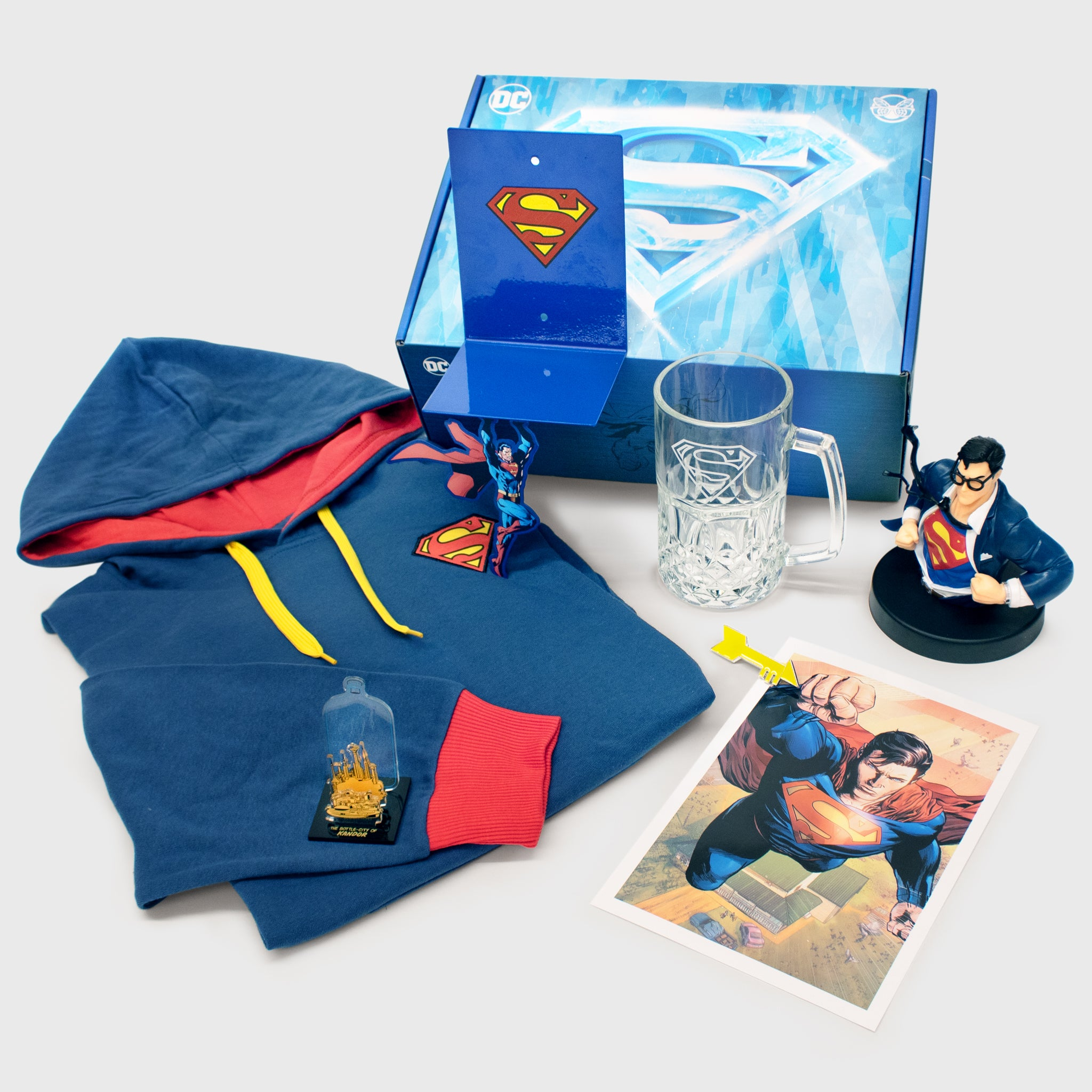 world's finest the collection subscription box exclusive collectible superman fortress of solitude culturefly dc comics superhero