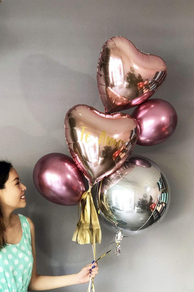 Metallic bloom-bouquet de globos