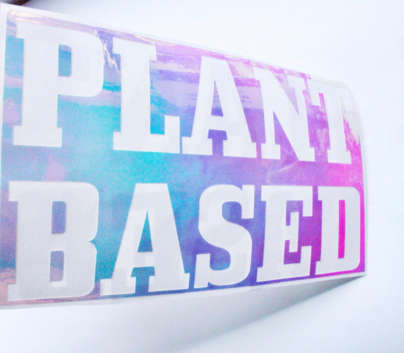 Holographic Plant Based sticker