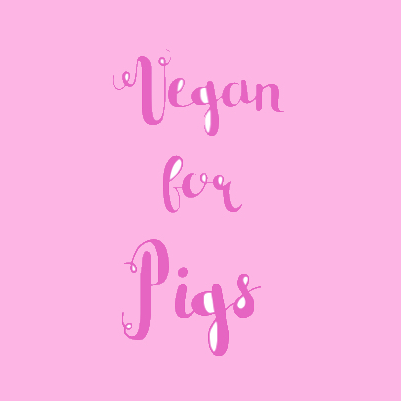 Vegan For Pigs sticker