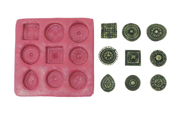 Gleeful Jumbo Studs Mould Pad - Claysphere