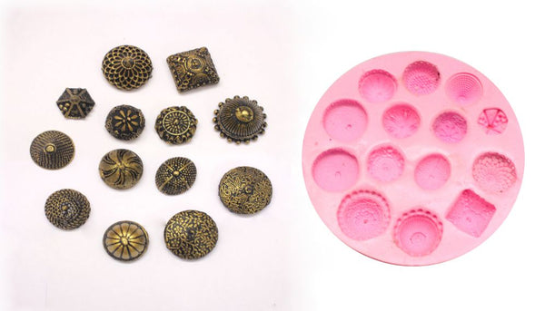 Medium Size Classic Design Jhumka Mould Pad - Claysphere