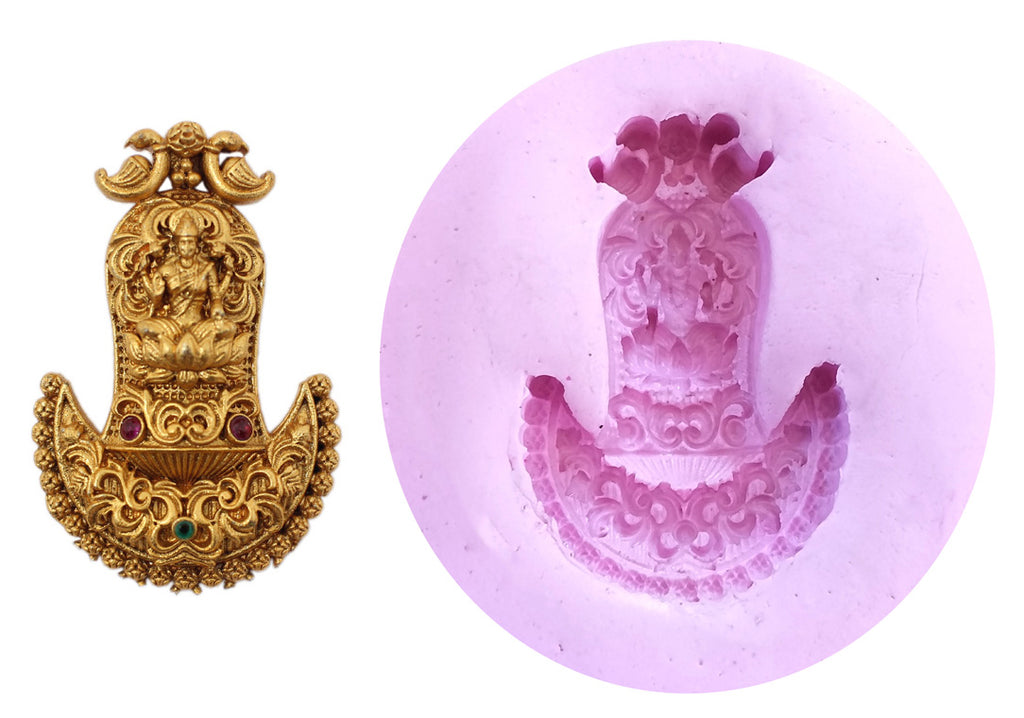 Deetya Lakshmi Stud Temple Mould - Claysphere