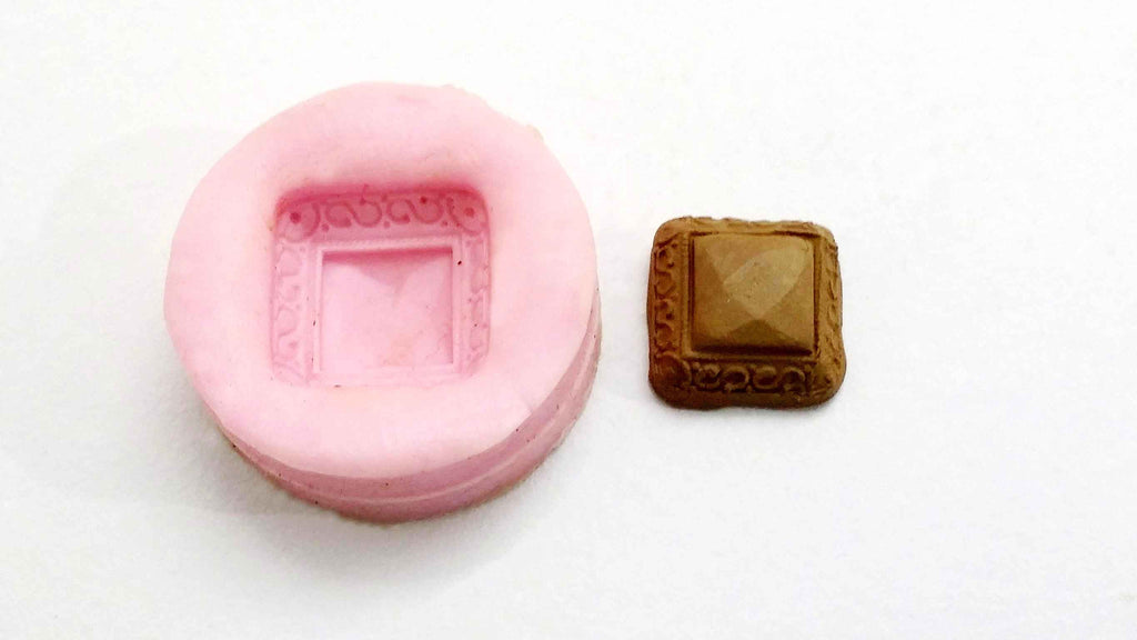 Crystal square stud mould - Claysphere