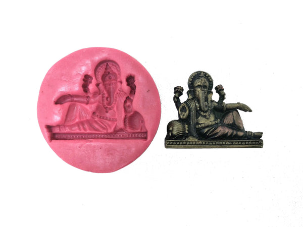 Relaxing Ganesha Temple Mould - Claysphere