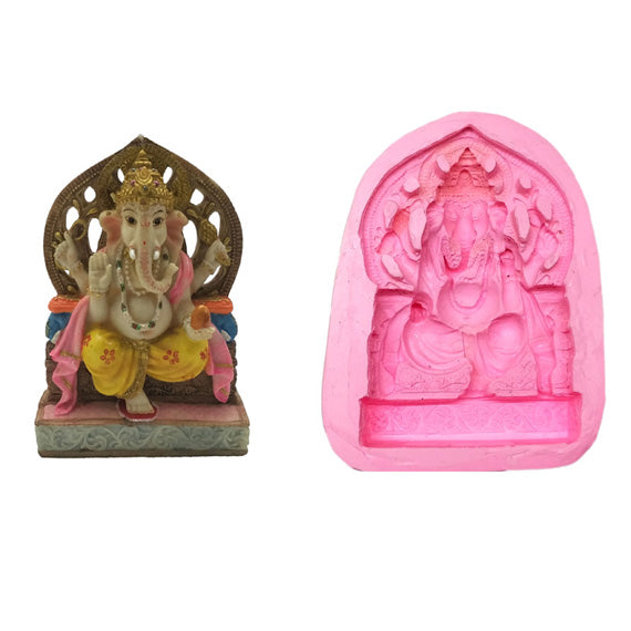 Gajavakra Ganesha Big Size Idol Mould - Claysphere