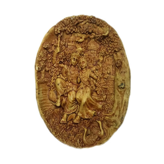 Radha Krishna On Swing Temple Mould - Claysphere
