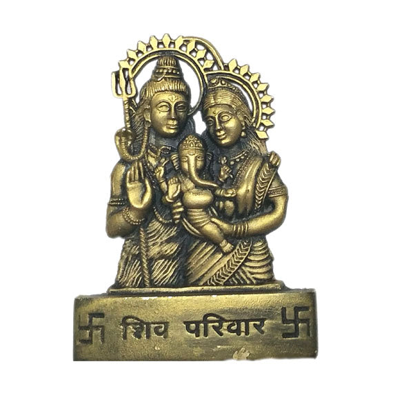 Shiva Parvati Baby Ganapati Temple Mould - Claysphere