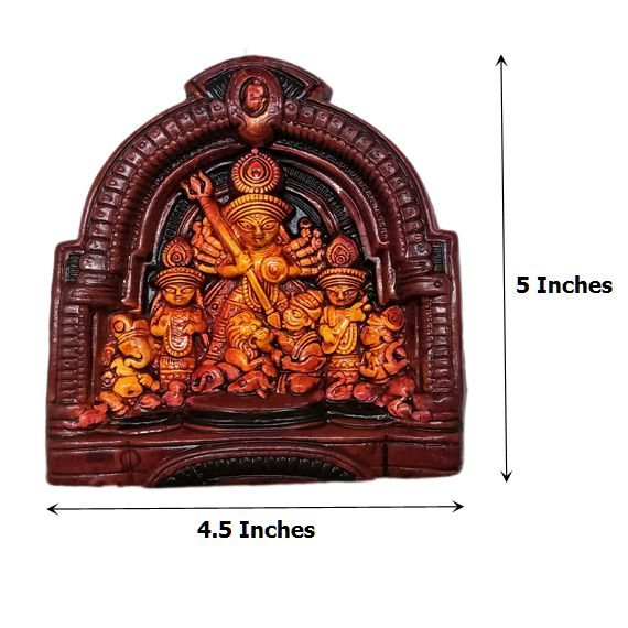 Medium Size Durga Devi Temple Mould - Claysphere