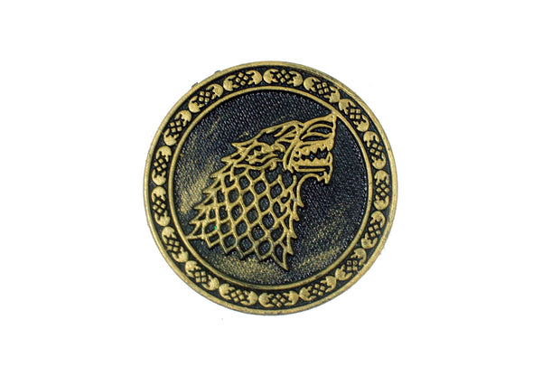 Game of Thrones : Direwolf Sigil of House of Stark - Claysphere